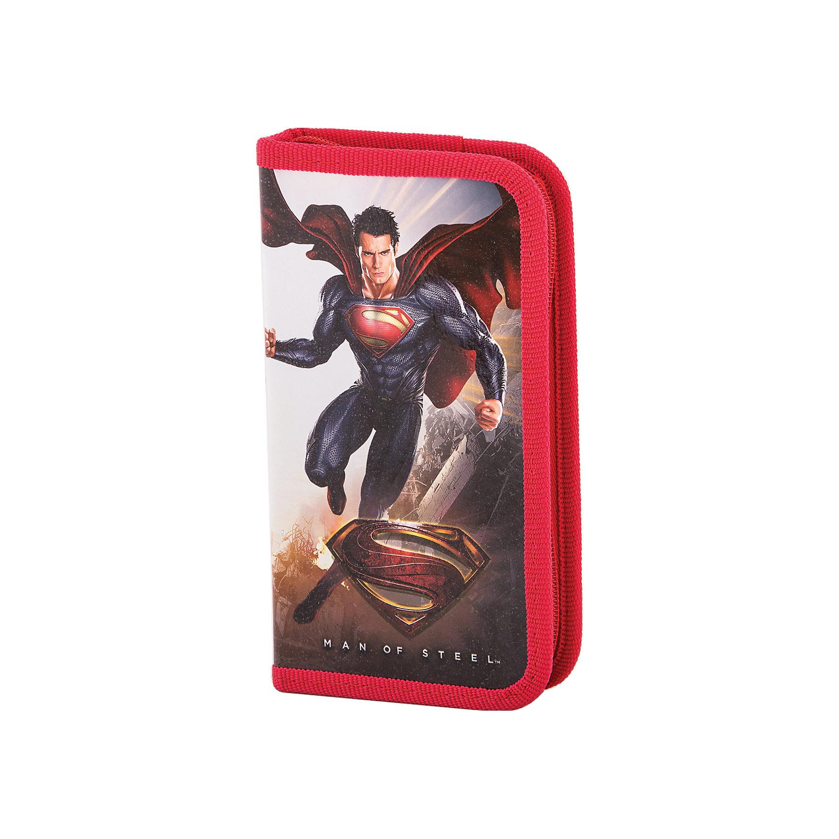 Пенал СуперменЯркие канцелярские принадлежности с привлекательным дизайном сделают школьные занятия веселее и поднимут настроение маленькому школьнику. Пенал Супермен (Superman) выполнен в оригинальном дизайне и украшен интересным рисунком с изображением популярного супергероя. Внутри одно отделение на молнии с резинками-держателями для письменных принадлежностей.<br><br>Дополнительная информация:<br><br>- Материал: полиэстер.<br>- Размер: 11 х 3 х 19 см.<br>- Вес: 70 гр.<br><br>Пенал Супермен (Superman), Proff, можно купить в нашем интернет-магазине.<br><br>Ширина мм: 110<br>Глубина мм: 190<br>Высота мм: 30<br>Вес г: 70<br>Возраст от месяцев: 84<br>Возраст до месяцев: 144<br>Пол: Мужской<br>Возраст: Детский<br>SKU: 4601805