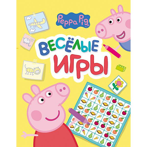 Веселые игры Свинка Пеппа (желтая)Книги по фильмам и мультфильмам<br>Веселые игры Свинка Пеппа (желтая) - книга для малышей с заданиями, играми, хитрыми вопросами, головоломками, лабиринтами и раскрасками.<br>Веселые игры - это отличный способ весело и с пользой провести время. Интересные задания помогут развить логическое мышление и творческие способности вашего малыша. А главное - герои любимого мультфильма не дадут ребенку заскучать!<br><br>Дополнительная информация:<br><br>- Редактор: Смилевска Л.<br>- Издательство: Росмэн<br>- Тип обложки: мягкая<br>- Иллюстрации: цветные<br>- Количество страниц: 16 (офсет)<br>- Размер: 275 х 212 x 2 мм.<br>- Вес: 74 гр.<br><br>Книгу Веселые игры Свинка Пеппа (желтую) можно купить в нашем интернет-магазине.<br><br>Ширина мм: 275<br>Глубина мм: 212<br>Высота мм: 2<br>Вес г: 74<br>Возраст от месяцев: 36<br>Возраст до месяцев: 60<br>Пол: Унисекс<br>Возраст: Детский<br>SKU: 4602288