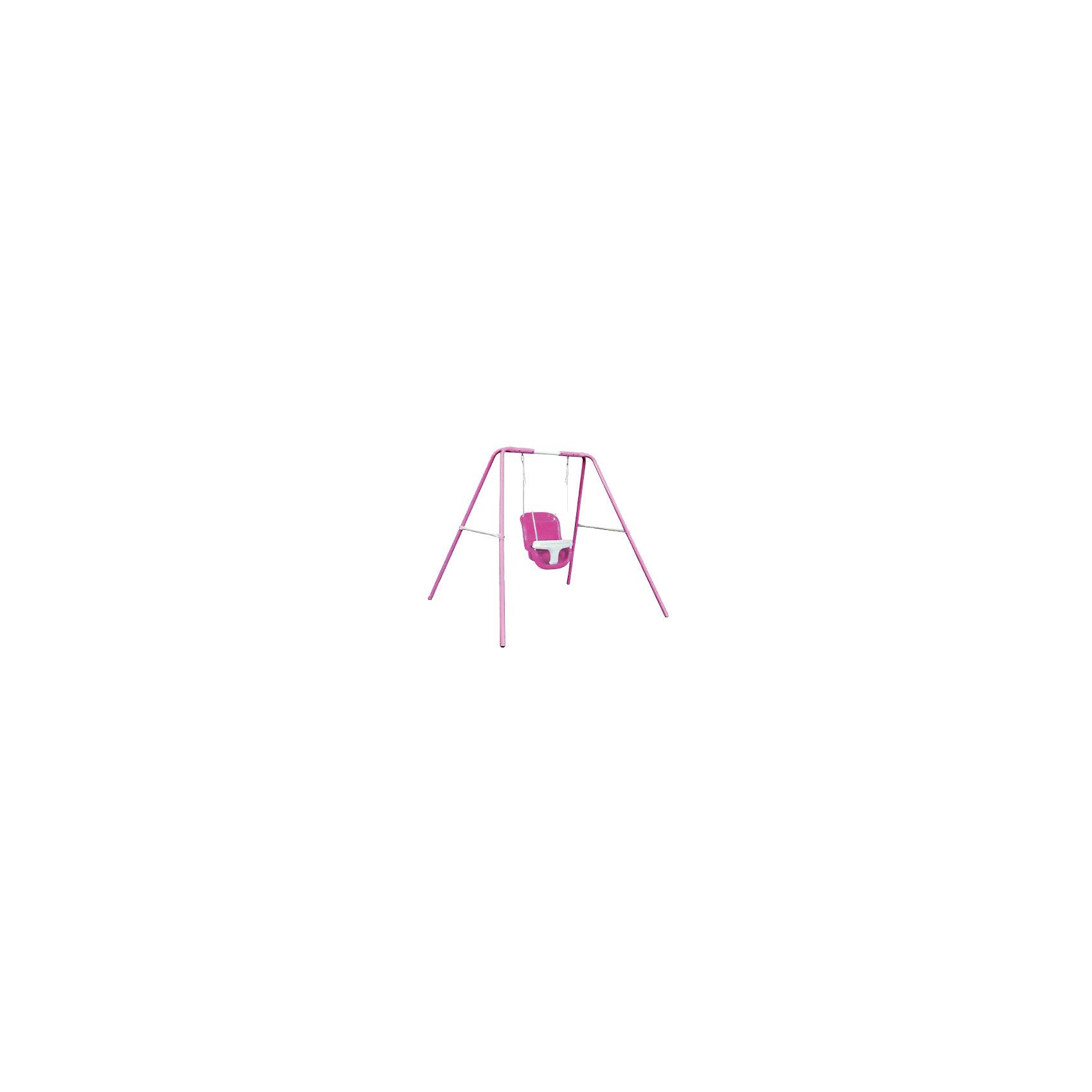 Качели для девочек 120 см, DondolandiaКачели и качалки<br>Качели для девочек 120 см, Dondolandia - замечательный детский аттракцион, удивительная игровая площадка для энергичной девочки.<br>Качели от Dondolandia приведут в восторг вашу девочку. Качели можно установить на улице или же дома. Модель имеет прочный устойчивый стальной каркас из устойчивого к деформации металла покрытый полиэстером. Пластиковое сиденье снабжено барьером безопасности. Качели легко собираются и разбираются, в разобранном виде занимают мало места при хранении и транспортировке. Подарите вашей девочке море улыбок и хорошее настроение!<br><br>Дополнительная информация:<br><br>- Материал: сталь, покрытие – полиэстер, сидение - пластик<br>- Размер: 160x180x120 см.<br>- Максимальная нагрузка: 20 кг.<br>- Вес: 6 кг.<br><br>Качели для девочек 120 см, Dondolandia можно купить в нашем интернет-магазине.<br><br>Ширина мм: 760<br>Глубина мм: 310<br>Высота мм: 370<br>Вес г: 15000<br>Возраст от месяцев: 96<br>Возраст до месяцев: 144<br>Пол: Женский<br>Возраст: Детский<br>SKU: 4603653