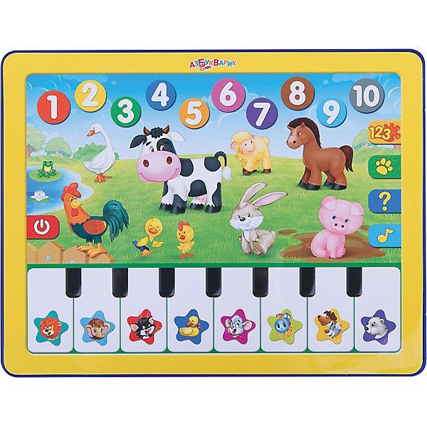 Планшет Веселая радуга с пианиноДетские гаджеты<br>Дети обожают гаджеты и электронные игрушки. Игровой планшетик с пианино приведет в восторг малыша и надолго займет маленького непоседу. Нажимая на яркие картинки, ребёнок выучит цифры и цвета, познакомится с животными фермы, отгадает загадки. На клавишах пианино не только звуки, но и песенки мультяшек!<br>Игрушка выполнена из высококачественного нетоксичного пластика безопасного для детей. <br><br>Дополнительная информация:<br><br>- Материал: пластик.<br>- Формат: 24х18,5 см.<br>- 8 песенок.<br>- Веселые игры.<br>- Цвета, животные фермы, цифры.<br>- Элемент питания: батарейки AAA (UM4 or LR03) (в комплекте).<br><br>Планшет Веселая радуга, с пианино, можно купить в нашем магазине.<br><br>Ширина мм: 190<br>Глубина мм: 200<br>Высота мм: 20<br>Вес г: 275<br>Возраст от месяцев: 12<br>Возраст до месяцев: 36<br>Пол: Унисекс<br>Возраст: Детский<br>SKU: 4603658