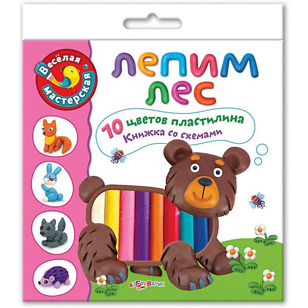 Лепим лесКартины из пластилина<br>Мастерить, играть и фантазировать с этим замечательным набором невероятно интересно! В наборе ребёнок найдёт 10 цветов пластилина, а также книжку с забавными стихами и подробную инструкцию. У творчества нет границ!<br>Лепка - прекрасный вид детского досуга, который развивает моторику рук, фантазию, цветовосприятие и, конечно, дарит море положительных эмоций.<br><br><br>Дополнительная информация:<br><br>- Материал: пластилин, бумага.<br>- Размер упаковки: 18х20,4 см.<br>- Комплектация: 10 цветов пластилина, книжка-инструкция.  <br><br>Набор Лепим лес можно купить в нашем магазине.<br>Ширина мм: 180; Глубина мм: 200; Высота мм: 20; Вес г: 270; Возраст от месяцев: 12; Возраст до месяцев: 36; Пол: Унисекс; Возраст: Детский; SKU: 4603661;