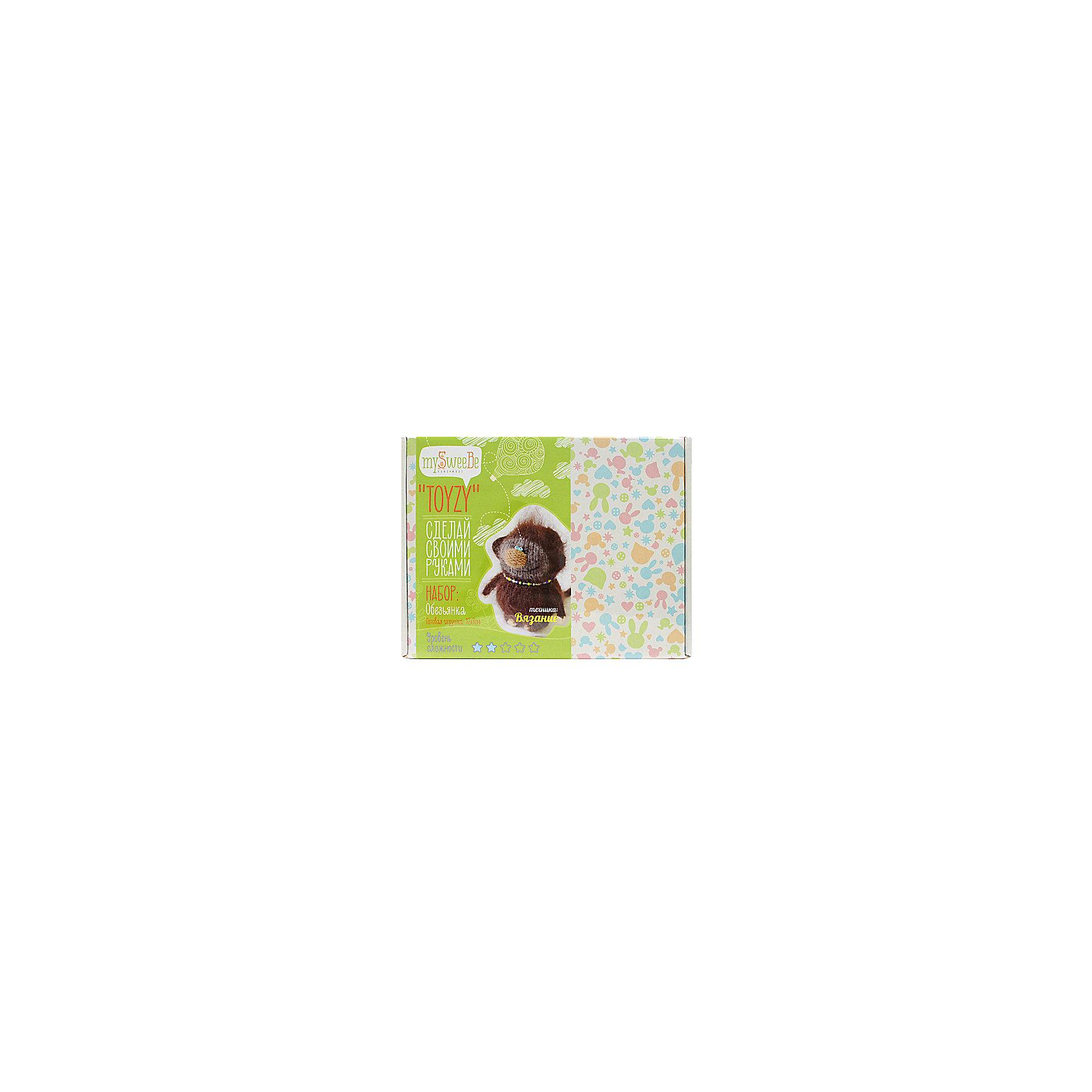 TOYZY Набор для вязания Обезьянка пряжа для вязания alize sal abiye цвет бордовый 390 410 м 100 г 5 шт
