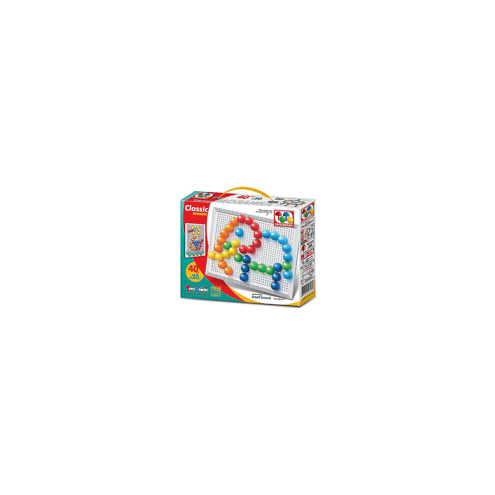 Toys Union Мозаика Необыкновенные приключения,40 деталей, д. 20 мм, Toys Union мозаика toys union зайчик