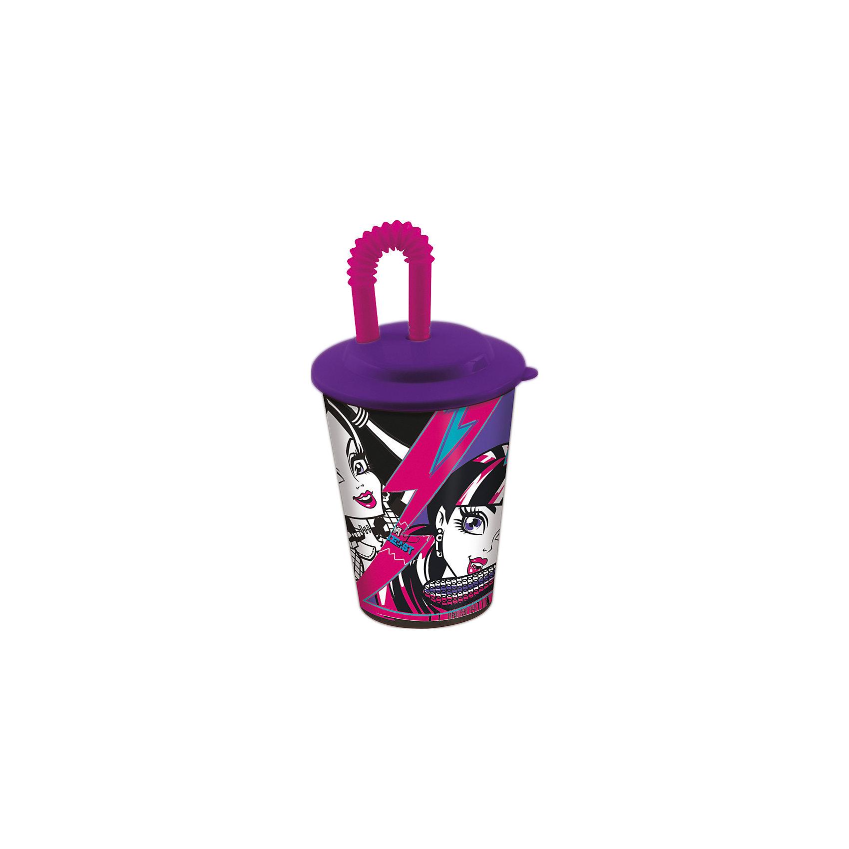Бокал Monster HIgh 450 мл с крышкой и трубочкойБокал Monster High 450 мл с крышкой и трубочкой - это отличный подарок для поклонницы мультсериала Школа Монстров.<br>Бокал Monster High выполнен из полипропилена и оформлен с изображением учениц школы Монстров. Бокал плотно закрывается крышкой с отверстием в центре для трубочки. Кончик гофрированной трубочки убирается в дополнительное отверстие в крышке, что исключает попадание пыли и грязи в содержимое стакана и предотвращает проливание жидкости. Не подходит для использования в посудомоечной машине и СВЧ-печи.<br><br>Дополнительная информация:<br><br>- Объем: 450 мл.<br>- Материал: полипропилен<br>- Цвет: синий<br>- Размер упаковки: 9х9х17 см.<br><br>Бокал Monster High 450 мл с крышкой и трубочкой можно купить в нашем интернет-магазине.<br><br>Ширина мм: 95<br>Глубина мм: 95<br>Высота мм: 165<br>Вес г: 75<br>Возраст от месяцев: 36<br>Возраст до месяцев: 144<br>Пол: Женский<br>Возраст: Детский<br>SKU: 4603855