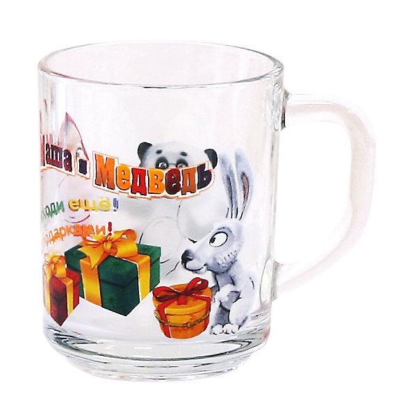 Стеклянная кружка Подарки 250 мл, Маша и МедведьМаша и Медведь<br>Стеклянная кружка Подарки 250 мл, Маша и Медведь – эта оригинальная кружка станет приятным сюрпризом для Вашего ребенка.<br>Детская кружка Подарки с удобной ручкой оформлена изображением героев мультсериала «Маша и Медведь». Изделие выполнено из высококачественного стекла, которое производится без добавления химических красителей и примесей. Абсолютно гладкая поверхность препятствует проникновению бактерий и посторонних запахов в посуду. Кружка будет незаменимым атрибутом чаепития, а ее оригинальное оформление добавит ярких эмоций и хорошего настроения.<br><br>Дополнительная информация:<br><br>- Материал: стекло<br>- Объем: 250 мл.<br>- Размер упаковки: 10,5х8х9 см.<br>- Вес: 310 гр.<br><br>Стеклянную кружку Подарки 250 мл, Маша и Медведь можно купить в нашем интернет-магазине.<br><br>Ширина мм: 105<br>Глубина мм: 80<br>Высота мм: 90<br>Вес г: 310<br>Возраст от месяцев: 36<br>Возраст до месяцев: 144<br>Пол: Унисекс<br>Возраст: Детский<br>SKU: 4603862