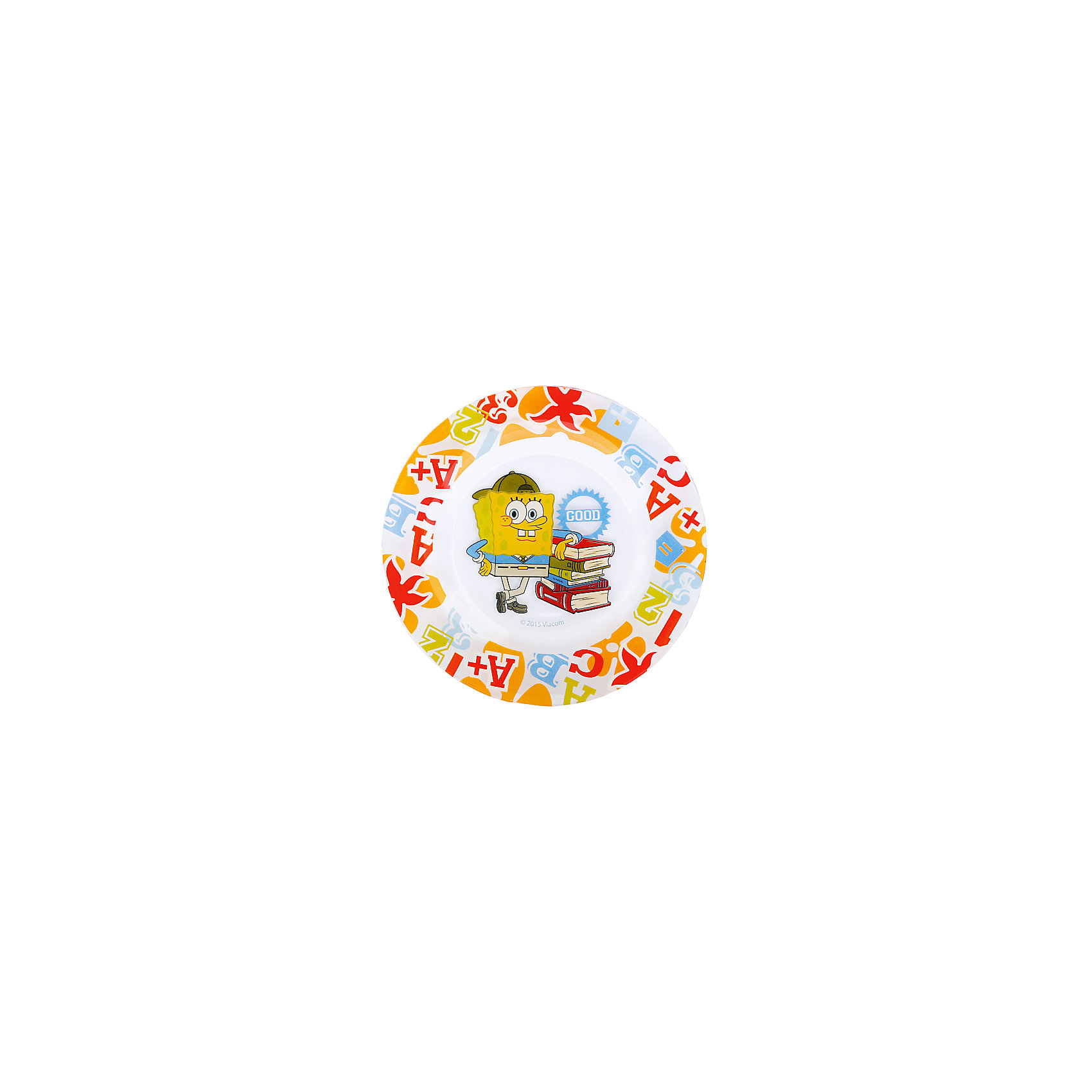 МФК-профит Стеклянная тарелка Школа 19,5 см, Губка Боб