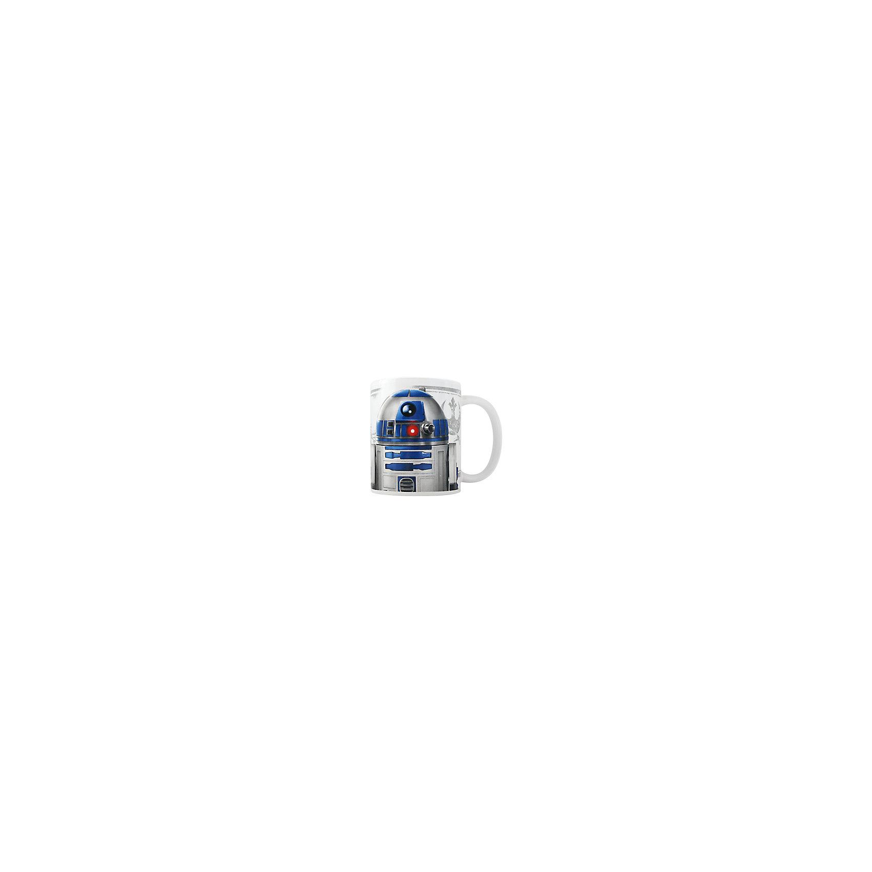 Керамическая кружка R2D2 350 мл, Звёздные ВойныЗвездные войны<br>Керамическая кружка R2D2 350 мл, Звёздные Войны - эта оригинальная кружка станет приятным сюрпризом для Вашего ребенка.<br>Кружка R2D2 Звездные войны станет отличным подарком для любого фаната знаменитой саги. Она выполнена из керамики белого цвета и оформлена рисунком с изображением одного из главных героев Звездных войн дроида R2D2.  Большая ручка обеспечит удобство использования. Подходит для использования в посудомоечной машине и СВЧ-печи.<br><br>Дополнительная информация:<br><br>- Материал: керамика<br>- Объем: 350 мл.<br>- Высота: 10 см.<br>- Диаметр: 8 см.<br><br>Керамическую кружку R2D2 350 мл, Звёздные Войны можно купить в нашем интернет-магазине.<br><br>Ширина мм: 120<br>Глубина мм: 82<br>Высота мм: 98<br>Вес г: 330<br>Возраст от месяцев: 36<br>Возраст до месяцев: 144<br>Пол: Унисекс<br>Возраст: Детский<br>SKU: 4603884