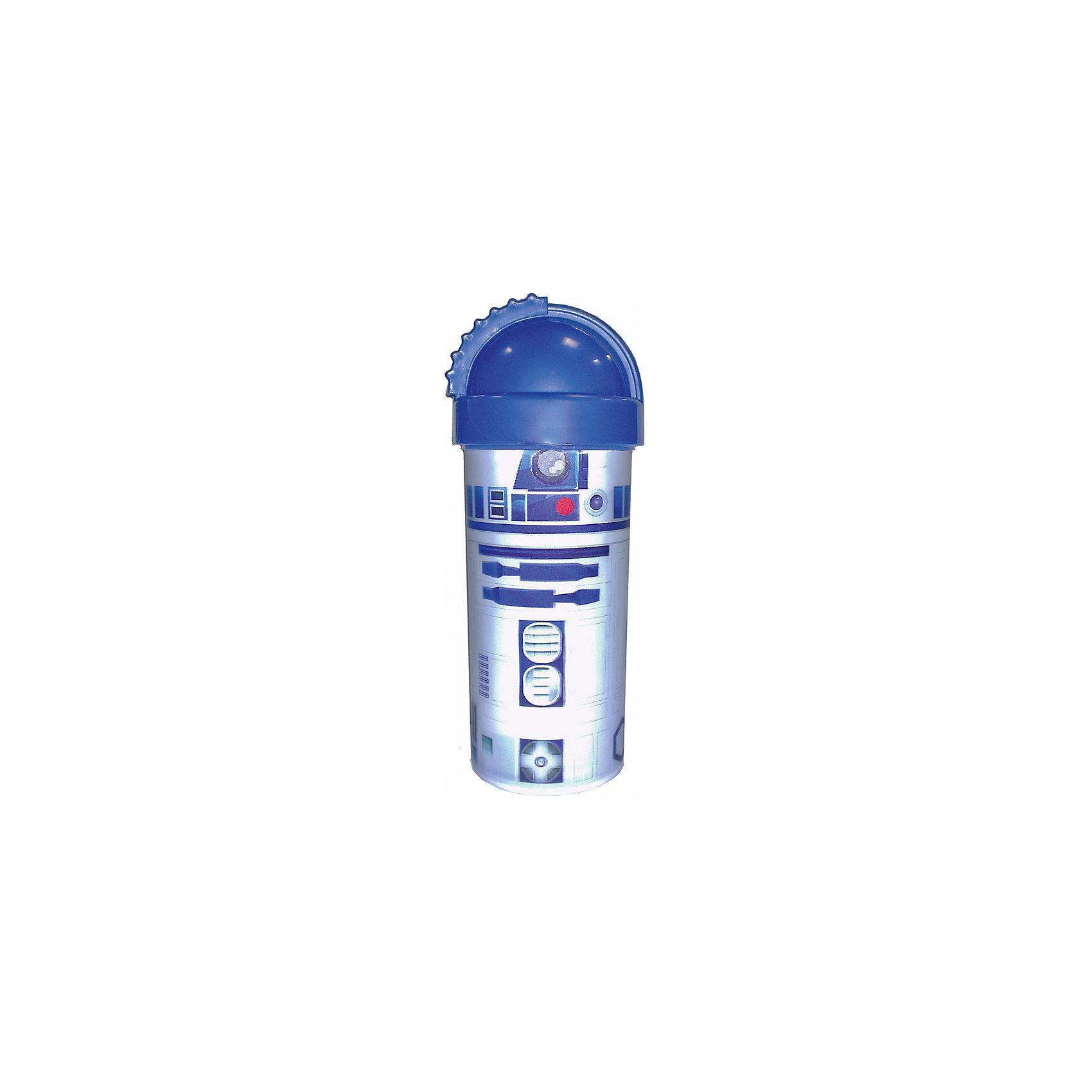 Синяя фляга Звёздные Войны 400 млСиняя фляга Звёздные Войны 400 мл – идеальный спутник малыша поездках и путешествиях, ее можно взять в школу, на прогулку.<br>Яркая детская фляга Звёздные Войны, оформленная 3D-рисунком с изображением дроида R2D2, станет отличным подарком для любого фаната знаменитой саги. Она изготовлена из высококачественного, пищевого пластика с безопасным для ребенка покрытием. Ребенок без труда сможет откручивать и закручивать крышку, которая обеспечивает чистоту трубочки и предотвращает проливание напитков. Флягу удобно брать с собой в дорогу, использовать на пляже или во время игр на свежем воздухе.<br><br>Дополнительная информация:<br><br>- Материал: пластик<br>- Цвет: синий<br>- Объем: 400 мл.<br>- Высота: 180 мм.<br>- Размер упаковки: 60х60х180 мм.<br>- Вес: 70 гр.<br><br>Синюю флягу Звёздные Войны 400 мл можно купить в нашем интернет-магазине.<br><br>Ширина мм: 60<br>Глубина мм: 60<br>Высота мм: 180<br>Вес г: 70<br>Возраст от месяцев: 36<br>Возраст до месяцев: 144<br>Пол: Унисекс<br>Возраст: Детский<br>SKU: 4606794