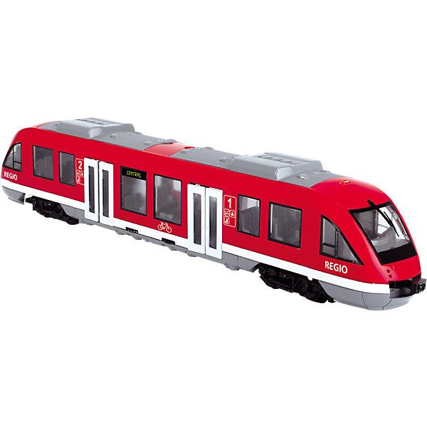 Городской поезд, 1:43, 45см, Dickie ToysЖелезные дороги<br>Характеристики:<br><br>• длина поезда: 45 см;<br>• масштаб: 1:43;<br>• особенности игрушки: открываются двери;<br>• материал: пластик;<br>• размер упаковки: 49,5х12,7х8 см.<br><br>Длинный поезд Dickie Toys увезет все минифигурки в сказочное путешествие. Фигурки могут «заходить» через двери, которые у поезда открываются. Любителями транспортных средств являются не только мальчики, поэтому игровой набор Dickie Toys подойдет и девочкам.<br><br>Городской поезд, 1:43, 45см, Dickie Toys можно купить в нашем магазине.<br><br>Ширина мм: 500<br>Глубина мм: 137<br>Высота мм: 83<br>Вес г: 533<br>Возраст от месяцев: 36<br>Возраст до месяцев: 84<br>Пол: Мужской<br>Возраст: Детский<br>SKU: 4608002