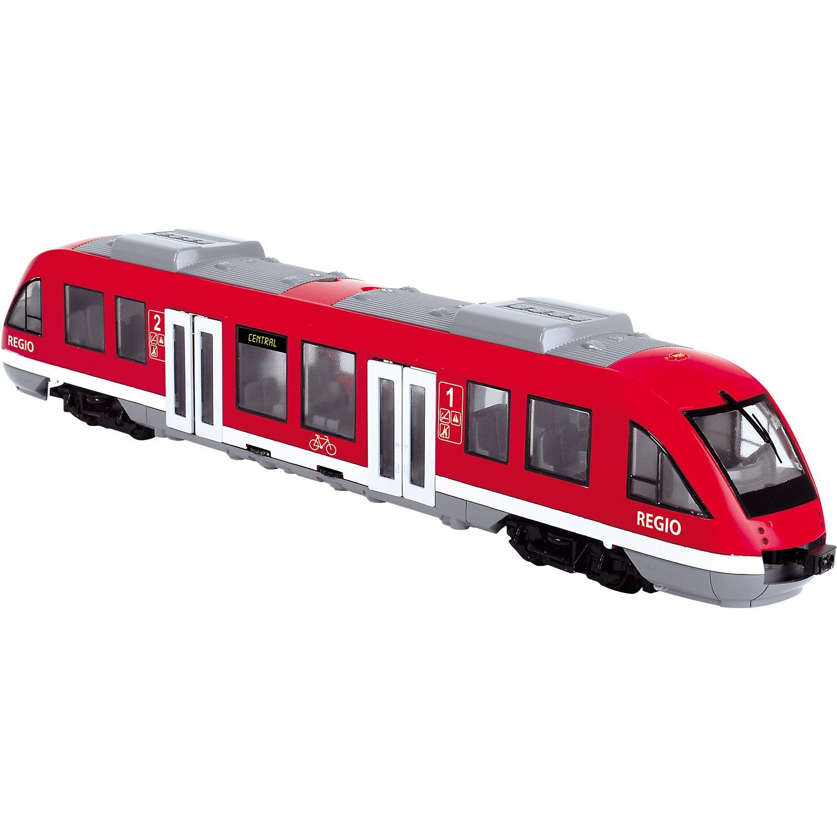 Городской поезд, 1:43, 45см, Dickie ToysИгрушечная железная дорога<br>Характеристики:<br><br>• длина поезда: 45 см;<br>• масштаб: 1:43;<br>• особенности игрушки: открываются двери;<br>• материал: пластик;<br>• размер упаковки: 49,5х12,7х8 см.<br><br>Длинный поезд Dickie Toys увезет все минифигурки в сказочное путешествие. Фигурки могут «заходить» через двери, которые у поезда открываются. Любителями транспортных средств являются не только мальчики, поэтому игровой набор Dickie Toys подойдет и девочкам.<br><br>Городской поезд, 1:43, 45см, Dickie Toys можно купить в нашем магазине.<br><br>Ширина мм: 502<br>Глубина мм: 131<br>Высота мм: 83<br>Вес г: 518<br>Возраст от месяцев: 36<br>Возраст до месяцев: 84<br>Пол: Мужской<br>Возраст: Детский<br>SKU: 4608002