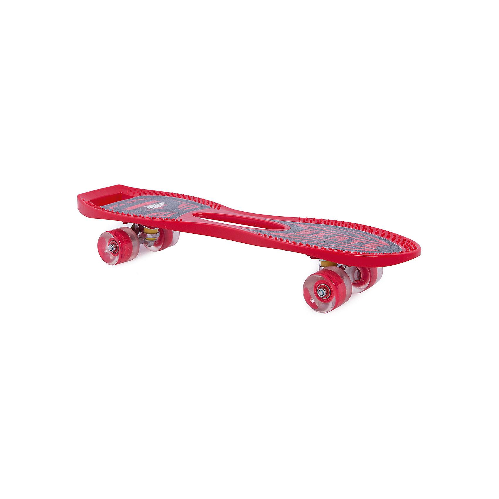 Скейтборд, ROING SCOOTERS, красныйСкейтборды и лонгборды<br>Скейтборд ROING SCOOTERS - прекрасный вариант для активного отдыха детей. Скейтборд сделан из высококачественных материалов, имеет устойчивые полиуретановые колеса. Катание на скейте не только модное и интересное увлечение, оно стимулирует ребенка к физической активности на свежем отдыхе, помогает развить различные группы мышц, координацию, укрепить иммунитет. <br><br>Дополнительная информация:<br><br>- Материал: пластик, полиуретан, алюминий. <br>- Размер: 61x9x18 см.<br>- Максимальная нагрузка: 80 кг.<br>- Вес: 1,6 кг.<br>- Уровень подготовки: для начинающих.<br><br>Скейтборд, ROING SCOOTERS, красный, можно купить в нашем магазине.<br><br>Ширина мм: 610<br>Глубина мм: 185<br>Высота мм: 90<br>Вес г: 1583<br>Возраст от месяцев: 36<br>Возраст до месяцев: 192<br>Пол: Унисекс<br>Возраст: Детский<br>SKU: 4609549