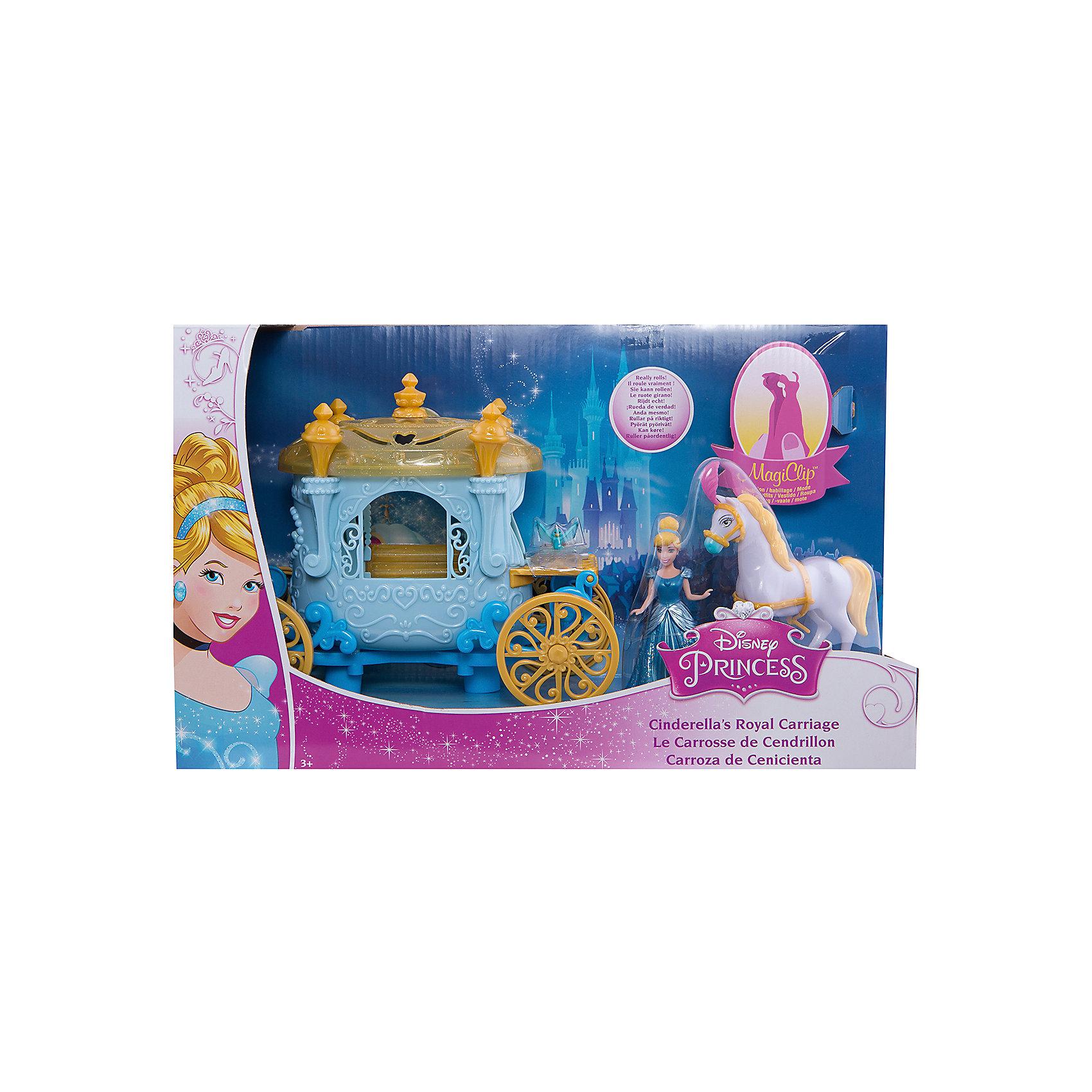 Mattel Кукла Золушка, в наборе с каретой и лошадью, Принцессы Дисней, Mattel mattel принцесса c домиком и аксессуарами принцессы дисней