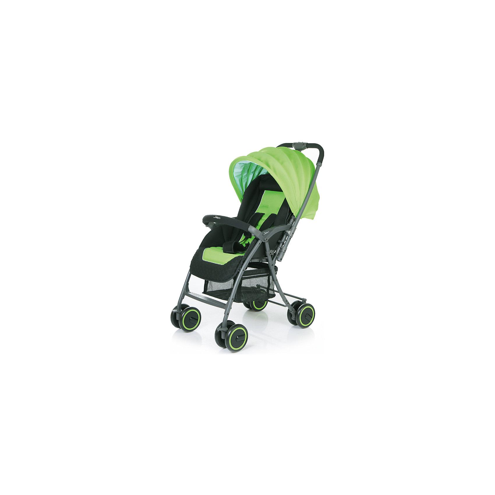 Прогулочная коляска Uno Grande, Jetem, зеленыйОсобенности:<br>- легкая алюминиевая рама;<br>- регулируемая подножка; <br>- перекидная ручка;<br>- плавающие передние колеса с фиксацией;<br>- 5-ти точеные ремни безопасности;<br>- съемный бампер с мягкой обивкой;<br>- регулируемая с помощью ремней спинка;<br>- ножная тормозная система.<br>Коляска складывается в «книжку» одной рукой, устойчива в сложенном состоянии.<br>В комплект входит чехол на ножки.<br>Характеристики:<br>- диаметр колес: передние – 15.3 см, задние — 15.3 см.;<br>-  тип колес: двойные;<br>- механизм складывания: книжка;<br>- вес: 6.25 кг (с чехлом); <br>- ширина сиденья: 38 см.; <br>- размер корзины: 37х32х19 см;<br>- размер в разложенном виде: 89х50х105 см.;<br>- размер в сложенном виде: 38х50х100 см.<br><br>Ширина мм: 770<br>Глубина мм: 510<br>Высота мм: 240<br>Вес г: 7750<br>Цвет: зеленый<br>Возраст от месяцев: 6<br>Возраст до месяцев: 36<br>Пол: Унисекс<br>Возраст: Детский<br>SKU: 4609942