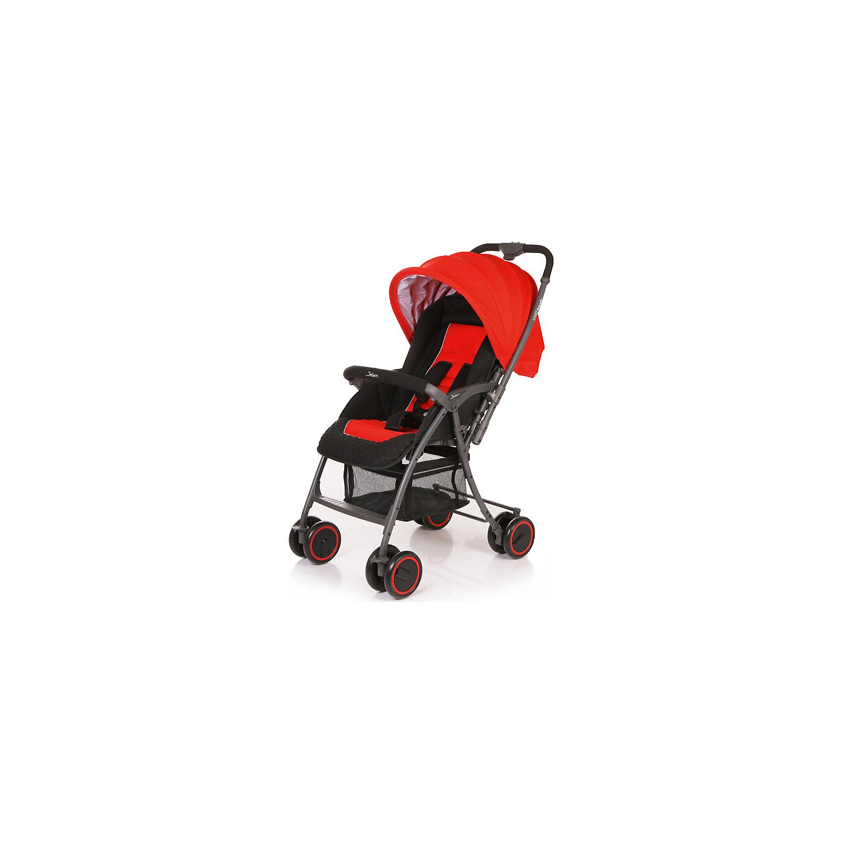 Прогулочная коляска Uno Grande, Jetem, красныйОсобенности:<br>- легкая алюминиевая рама;<br>- регулируемая подножка; <br>- перекидная ручка;<br>- плавающие передние колеса с фиксацией;<br>- 5-ти точеные ремни безопасности;<br>- съемный бампер с мягкой обивкой;<br>- регулируемая с помощью ремней спинка;<br>- ножная тормозная система.<br>Коляска складывается в «книжку» одной рукой, устойчива в сложенном состоянии.<br>В комплект входит чехол на ножки.<br>Характеристики:<br>- диаметр колес: передние – 15.3 см, задние — 15.3 см.;<br>-  тип колес: двойные;<br>- механизм складывания: книжка;<br>- вес: 6.25 кг (с чехлом); <br>- ширина сиденья: 38 см.; <br>- размер корзины: 37х32х19 см;<br>- размер в разложенном виде: 89х50х105 см.;<br>- размер в сложенном виде: 38х50х100 см.<br><br>Ширина мм: 770<br>Глубина мм: 510<br>Высота мм: 240<br>Вес г: 7750<br>Возраст от месяцев: 6<br>Возраст до месяцев: 36<br>Пол: Унисекс<br>Возраст: Детский<br>SKU: 4609944