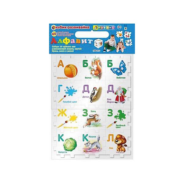 Кубик-развивайка АлфавитАзбуки<br>Кубик-развивайка. Алфавит состоит из 60 деталей-пазлов, которые можно соединить в 10 маленьких кубиков ( по 6 деталей в каждом), или 2 средних ( по 24 детали), или 1 большой (56 деталей), или развивающий коврик для ребенка (80х48). Кубики-развивайки сделаны из высокоэкологичного мягкого материала нового поколения EVA. Мягкий безопасный материал прекрасно подходит для игры в ванне. Собирайте конструктор, коврик или крепите детали на стены в ванной.<br><br>Дополнительная информация:<br><br>Размеры упаковки: 23 х 32 х 5 см<br><br>Кубик-развивайку Алфавит можно купить в нашем магазине.<br>Ширина мм: 230; Глубина мм: 320; Высота мм: 53; Вес г: 415; Возраст от месяцев: 36; Возраст до месяцев: 2147483647; Пол: Унисекс; Возраст: Детский; SKU: 4610606;