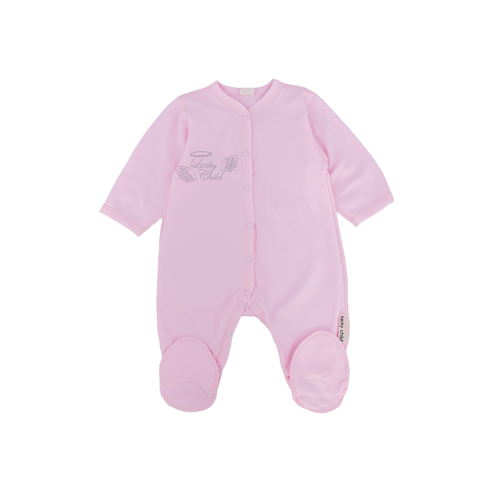 Комбинезон для девочки Lucky ChildКомбинезон для девочки Lucky Child<br>Замечательный розовый комбинезон от Lucky Child – это сочетание кропотливой работы и стиля. Нежный принт будет легко гармонировать с остальной одеждой малыша, а удивительное качество ткани будет ежедневно радовать мам. Все швы проработаны с особой тщательностью, а уникальная система кнопочек позволяет расстегивать и застегивать комбинезон с наименьшими усилиями и неудобством для малыша.<br>Состав : 100% хлопок<br><br>Ширина мм: 157<br>Глубина мм: 13<br>Высота мм: 119<br>Вес г: 200<br>Цвет: розовый<br>Возраст от месяцев: 6<br>Возраст до месяцев: 9<br>Пол: Женский<br>Возраст: Детский<br>Размер: 74/80,68/74,56/62,62/68<br>SKU: 4611917
