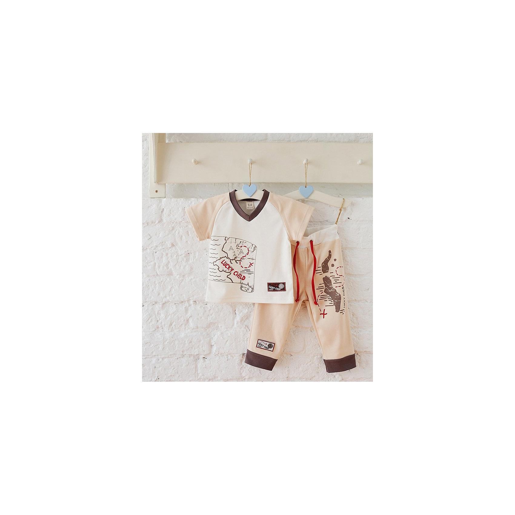 Штанишки для мальчика Lucky ChildПолзунки и штанишки<br>Штанишки для мальчика Lucky Child<br>Одежда из коллекции «Дальние берега» - это лучший подарок для мальчишек, которые мечтают о морских путешествиях, кладах и приключениях. Мамы по достоинству оценят качество ткани и аккуратность швов. Все наши модели производятся только в России с соблюдением сертификатов качества и соответствия.<br>Состав : 100% хлопок<br><br>Ширина мм: 215<br>Глубина мм: 88<br>Высота мм: 191<br>Вес г: 336<br>Цвет: бежевый<br>Возраст от месяцев: 12<br>Возраст до месяцев: 18<br>Пол: Мужской<br>Возраст: Детский<br>Размер: 80/86,92/98,86/92,98/104<br>SKU: 4611988