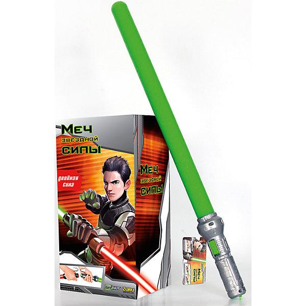 Звездный Меч Силы, зеленый, ZURUИгрушечные мечи и щиты<br>Звездный Меч Силы, зеленый, ZURU (ЗУРУ) – это отличный подарок для поклонника Звездных войн.<br>Световой меч с мягким безопасным лезвием, которое светится благодаря светодиодной подсветке. Это придает игре невероятную реалистичность. Лезвие меча сделано из легкой вспененной резины. Пластиковая рукоятка меча удобно лежит в руке. При нажатии на специальную кнопку лезвие начинает светиться ярко-зеленым светом, как настоящий световой меч джедаев! Можно соединить рукоятки 2-х мечей чтобы получить единый боевой шест - двухклинковый световой меч, который можно крутить вокруг своей оси. Меч позволит любому ребенку почувствовать себя героем знаменитой саги и одержать победу над любым противником.<br><br>Дополнительная информация:<br><br>- Длина меча: 65 см.<br>- Цвет: ярко-зеленый<br>- Батарейки: 2 типа ААА (входят в комплект)<br>- Материал: пластик, вспененная резина<br><br>Звездный Меч Силы, зеленый, ZURU (ЗУРУ) можно купить в нашем интернет-магазине.<br><br>Ширина мм: 17<br>Глубина мм: 20<br>Высота мм: 68<br>Вес г: 1900<br>Возраст от месяцев: 36<br>Возраст до месяцев: 96<br>Пол: Мужской<br>Возраст: Детский<br>SKU: 4613972