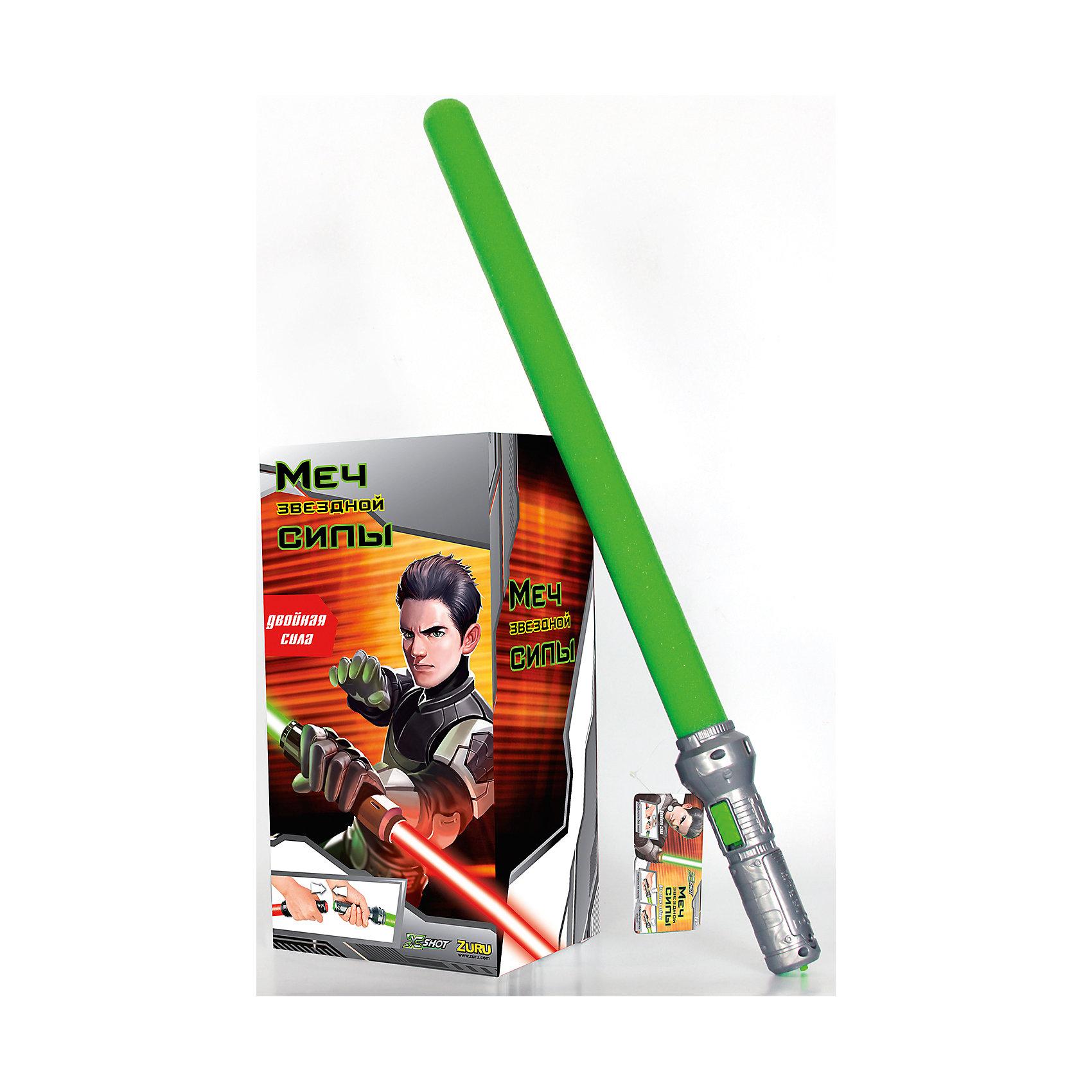 Звездный Меч Силы, зеленый, ZURUЗвездные войны Игрушки<br>Звездный Меч Силы, зеленый, ZURU (ЗУРУ) – это отличный подарок для поклонника Звездных войн.<br>Световой меч с мягким безопасным лезвием, которое светится благодаря светодиодной подсветке. Это придает игре невероятную реалистичность. Лезвие меча сделано из легкой вспененной резины. Пластиковая рукоятка меча удобно лежит в руке. При нажатии на специальную кнопку лезвие начинает светиться ярко-зеленым светом, как настоящий световой меч джедаев! Можно соединить рукоятки 2-х мечей чтобы получить единый боевой шест - двухклинковый световой меч, который можно крутить вокруг своей оси. Меч позволит любому ребенку почувствовать себя героем знаменитой саги и одержать победу над любым противником.<br><br>Дополнительная информация:<br><br>- Длина меча: 65 см.<br>- Цвет: ярко-зеленый<br>- Батарейки: 2 типа ААА (входят в комплект)<br>- Материал: пластик, вспененная резина<br><br>Звездный Меч Силы, зеленый, ZURU (ЗУРУ) можно купить в нашем интернет-магазине.<br><br>Ширина мм: 17<br>Глубина мм: 20<br>Высота мм: 68<br>Вес г: 1900<br>Возраст от месяцев: 36<br>Возраст до месяцев: 96<br>Пол: Мужской<br>Возраст: Детский<br>SKU: 4613972