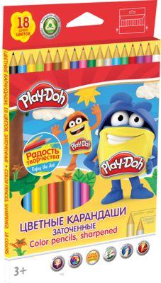 Академия групп Цветные карандаши 18 цветов, Play-Doh