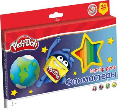Академия групп Набор фломастеров (24 цвета) с раскраской, Play-Doh