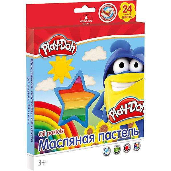 Масляная пастель (24 цвета) с раскрасками (2 шт), Play-DohМасляные и восковые мелки<br>Масляная пастель  24 цв., 2 раскраски. Размер 1 мелка: длина 7,5 см, диаметр 1,1 см. Каждый мелок обклеен бумажной оберткой. Упаковка   картонная коробка с ПВХ окном, с пластиковым ложементом и европодвесом. Размер 19,8 х 16,7 х 1,8 см.Play Doh<br>Ширина мм: 198; Глубина мм: 167; Высота мм: 18; Вес г: 260; Возраст от месяцев: 36; Возраст до месяцев: 168; Пол: Унисекс; Возраст: Детский; SKU: 4614756;