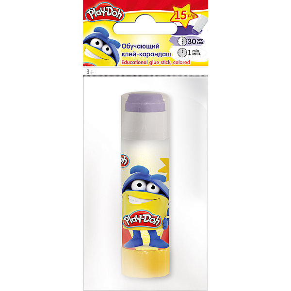 Исчезающий цветной клей-карандаш, Play-DohPlay-Doh<br>Клеящий карандаш цветной (исчезающий), на PVP основе, 15 г. Печать на корпусе  полноцветная. Упаковка  ПП пакет с европодвесом. Размер 15 х 6,5 х 2,5 см.Play Doh<br>Ширина мм: 150; Глубина мм: 65; Высота мм: 25; Вес г: 32; Возраст от месяцев: 36; Возраст до месяцев: 108; Пол: Унисекс; Возраст: Детский; SKU: 4614761;