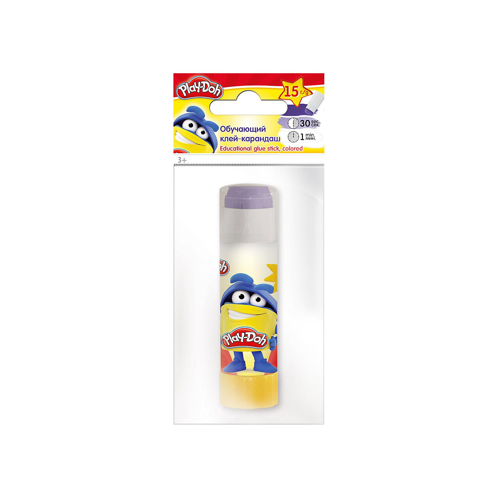 Исчезающий цветной клей-карандаш, Play-DohКлеящий карандаш цветной (исчезающий), на PVP основе, 15 г. Печать на корпусе  полноцветная. Упаковка  ПП пакет с европодвесом. Размер 15 х 6,5 х 2,5 см.Play Doh<br><br>Ширина мм: 150<br>Глубина мм: 65<br>Высота мм: 25<br>Вес г: 32<br>Возраст от месяцев: 36<br>Возраст до месяцев: 108<br>Пол: Унисекс<br>Возраст: Детский<br>SKU: 4614761