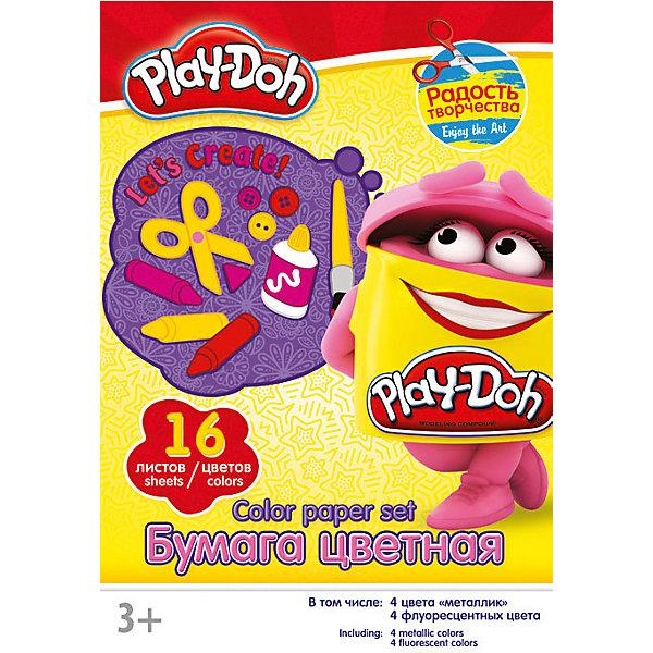 Цветная бумага 16 цветов, Play-DohPlay-Doh<br>Бумага цветная дпя детского творчества16цв 16л(4мет,4флю) Папка 200*290 PD1/2-ЕАС Play Doh<br><br>Ширина мм: 198<br>Глубина мм: 5<br>Высота мм: 290<br>Вес г: 107<br>Возраст от месяцев: 36<br>Возраст до месяцев: 108<br>Пол: Унисекс<br>Возраст: Детский<br>SKU: 4614763
