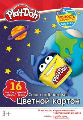 Академия групп Цветной картон 16 цветов, Play-Doh