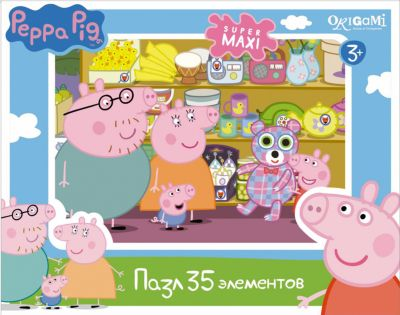 Пазл Магазин игрушек , 35 деталей, Свинка Пеппа, Origami