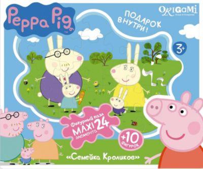 Origami Пазл Семья Кроликов + Магниты + Подставки, 24 Maxi Детали, Свинка Пеппа