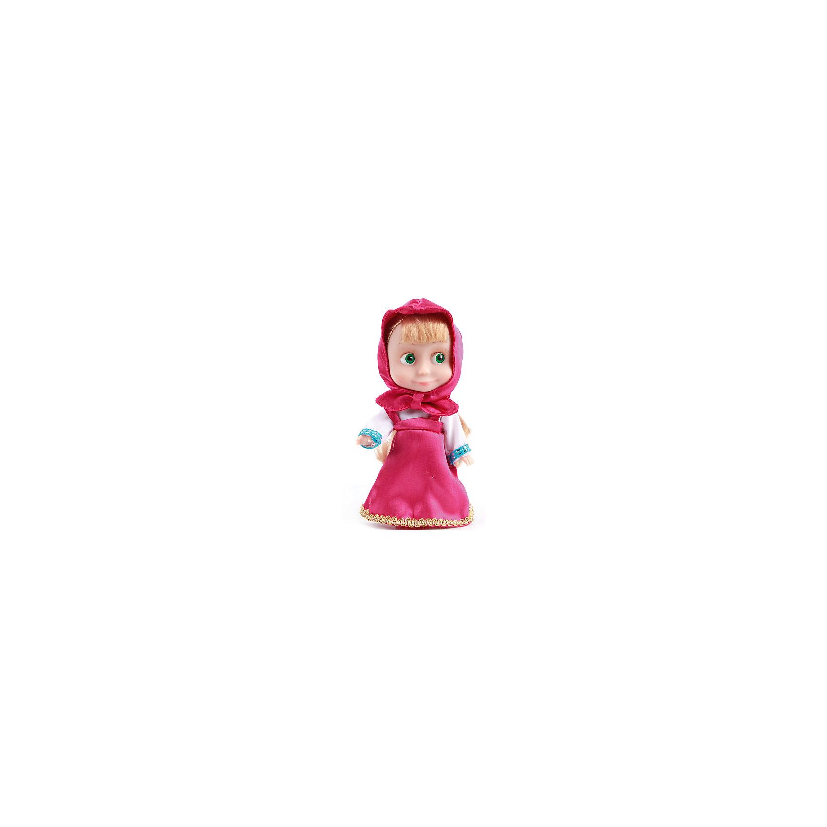 Карапуз Кукла Маша,15 см, со звуком, Маша и Медведь, Карапуз магниты маша и медведь купить игрушку