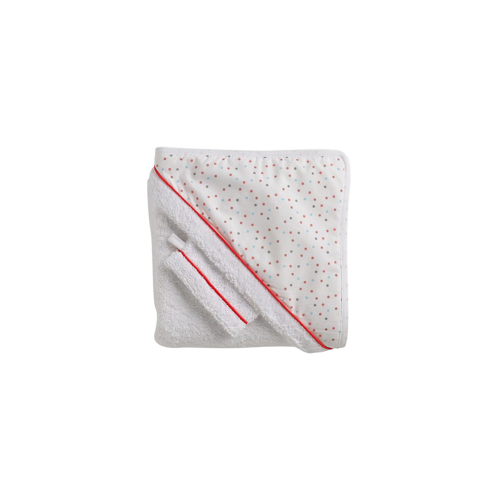 Махровое полотенце с уголком + варежка, Red CastleПолотенце с уголком и варежка для мытья ребенка Red Castle созданы для вашего малыша. Теперь купание будет приносить гораздо больше радостных моментов! Мягкое полотенце с капюшоном быстро впитывает влагу, очень приятно к телу. Варежка создана специально для нежной детской кожи, она бережно ухаживает за ней, устраняя загрязнения и не травмируя. Благодаря красивой упаковке, комплект идеально подойдет для подарка новорожденному малышу.<br><br>Дополнительная информация:<br><br>- Материал: хлопок 100%.<br>- Размер полотенца: 100х100 см.<br>- Комплектация:<br>- Прекрасно впитывает.<br>- Капюшон покрыт фирменным хлопком Fleur de Coton.<br><br>Махровое полотенце с уголком + варежка, Red Castle, можно купить в нашем магазине.<br><br>Ширина мм: 340<br>Глубина мм: 40<br>Высота мм: 340<br>Вес г: 700<br>Цвет: разноцветный<br>Возраст от месяцев: 0<br>Возраст до месяцев: 24<br>Пол: Унисекс<br>Возраст: Детский<br>SKU: 4615066