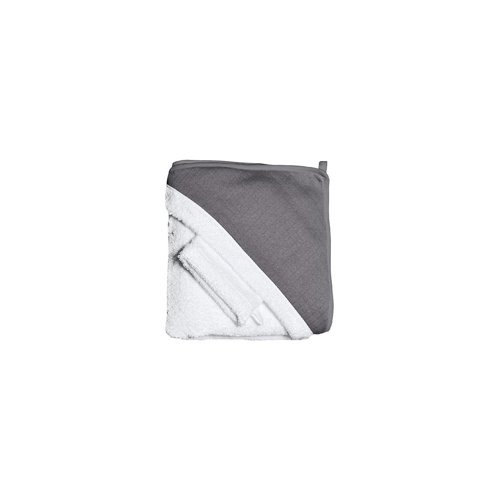 RED CASTLE® Махровое полотенце с уголком + варежка, Red Castle, red castle® позиционер подушка для сна red castle