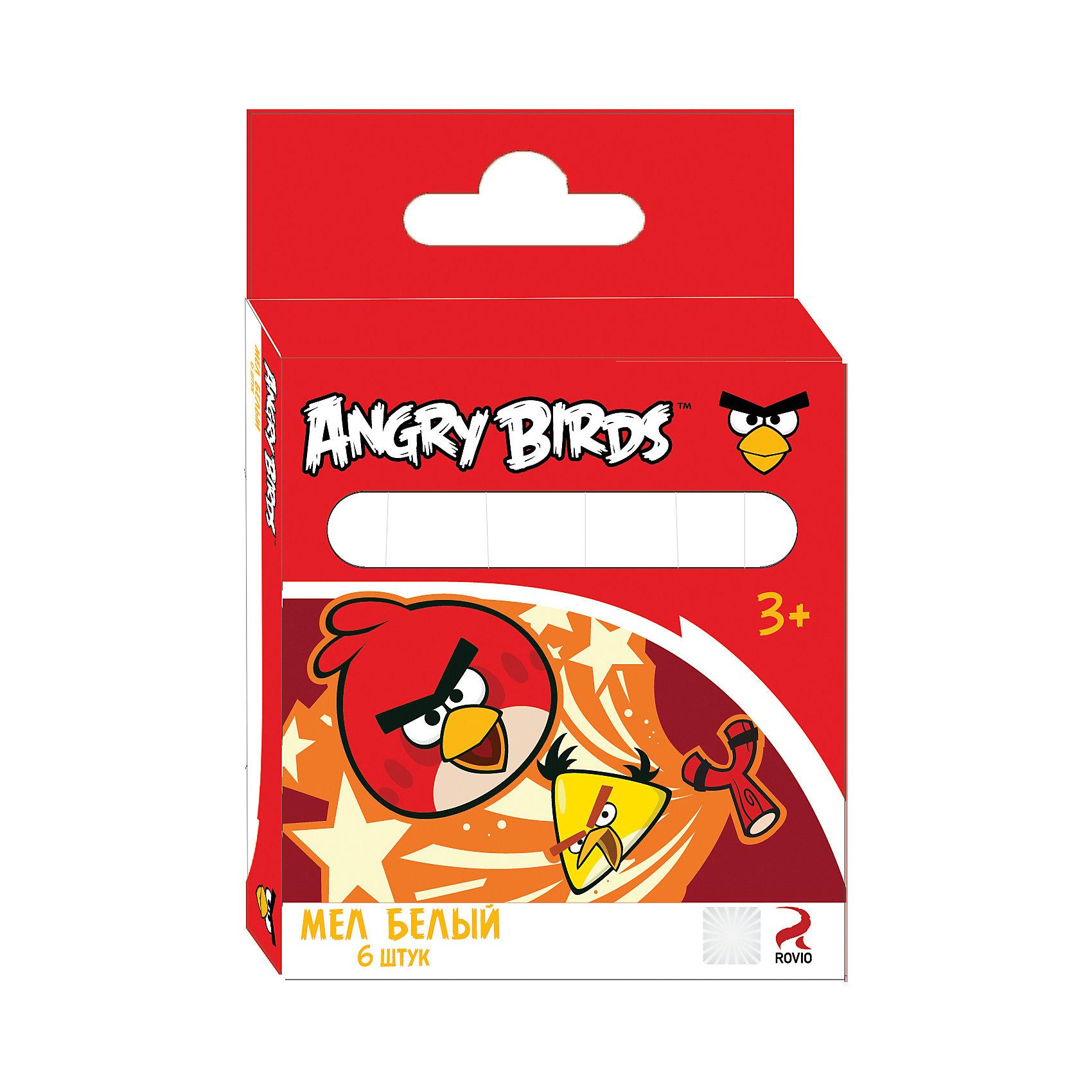 Белый мел Angry Birds 6 штБелый мел Angry Birds пригодится везде - в школе, детском саду, дома, на прогулке. Он выполнен из высококачественного натурального сырья, не крошится, легко смывается водой, а яркая коробка с изображением популярных героев не оставит равнодушным ни одного любителя сердитых птичек. <br><br>Дополнительная информация:<br>- цвет: белый<br>- количество: 6 штук<br>- картонная упаковка с европодвесом<br><br>Белый мел Angry Birds можно купить в нашем интернет-магазине<br><br>Ширина мм: 12<br>Глубина мм: 75<br>Высота мм: 108<br>Вес г: 85<br>Возраст от месяцев: 36<br>Возраст до месяцев: 96<br>Пол: Унисекс<br>Возраст: Детский<br>SKU: 4616060