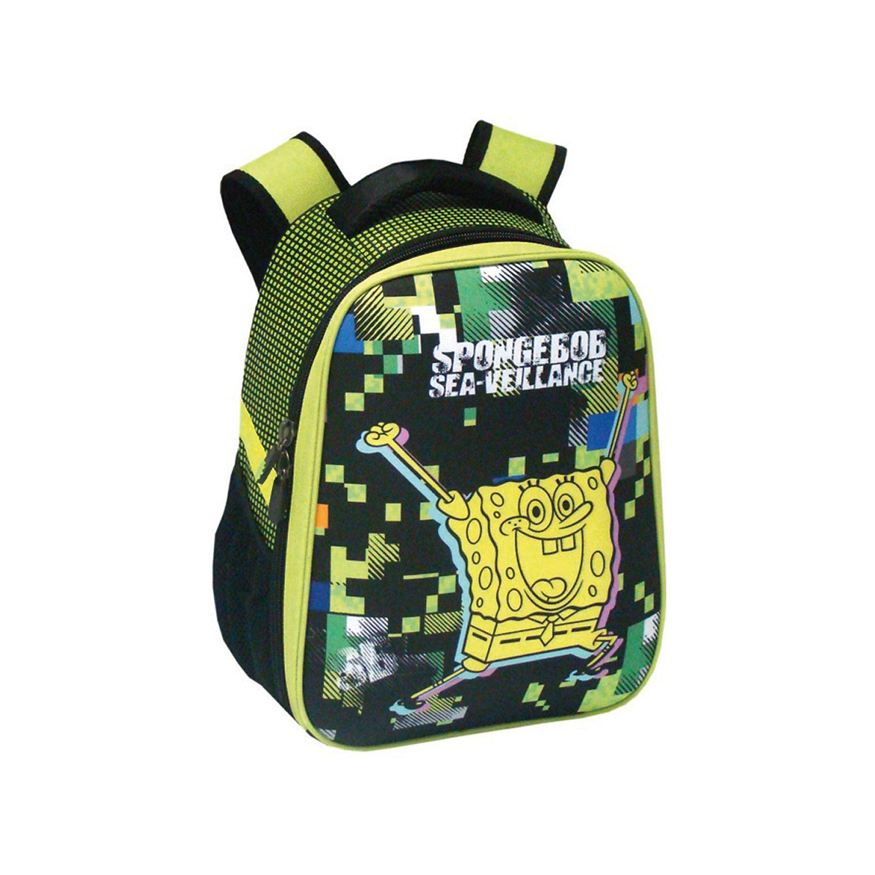 Школьный рюкзак Губка БобЯркий и модный рюкзак Губка Боб - отличный выбор для школьника. Изделие выполнено из плотного износостойкого материала и обладает следующими особенностями:<br>- 1 вместительное отделение с удобной застежкой-молнией;<br>- 2 боковых кармана с резинками;<br>- широкие лямки, регулируемые по длине;<br>- удобная ручка для переноса рюкзака;<br>- светоотражающие элементы для безопасности ребенка в темное время суток;<br>- прочное днище;<br>- привлекательный дизайн<br><br>Дополнительная информация:<br>- размеры: 38х31,5х17 см<br>- вес: 750 гр.<br><br>Рюкзак Губка Боб можно купить в нашем интернет-магазине<br><br>Ширина мм: 170<br>Глубина мм: 315<br>Высота мм: 380<br>Вес г: 750<br>Возраст от месяцев: 72<br>Возраст до месяцев: 144<br>Пол: Женский<br>Возраст: Детский<br>SKU: 4616078