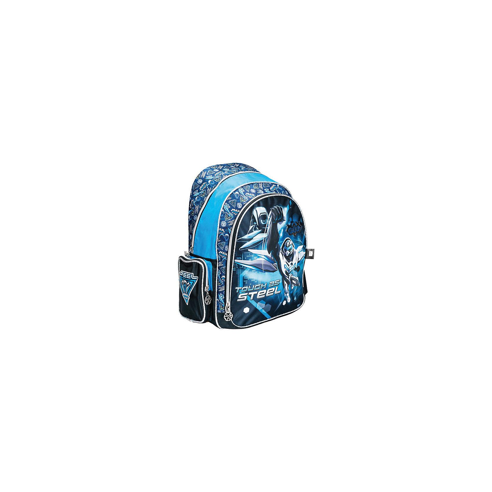 Школьный рюкзак Max SteelЯркий и модный рюкзак Max Steel  - отличный выбор для Вашего школьника. Изделие выполнено из плотного износостойкого материала и обладает следующими особенностями:<br>- уплотненная спинка сохранит здоровье позвоночника;<br>- 1 вместительное отделение;<br>- 1 большой внешний карман;<br>- 2 боковых кармана;<br>- удобные застежки-молнии;<br>- широкие мягкие лямки, регулируемые по длине;<br>- удобная ручка для переноса рюкзака;<br>- светоотражающие элементы для безопасности ребенка в темное время суток;<br>- прочное днище;<br>- привлекательный дизайн<br><br>Дополнительная информация:<br>- размеры: 43х31х16 см<br>- вес: 620 гр.<br><br>Рюкзак Max Steel  можно купить в нашем интернет-магазине<br><br>Ширина мм: 160<br>Глубина мм: 310<br>Высота мм: 430<br>Вес г: 620<br>Возраст от месяцев: 72<br>Возраст до месяцев: 144<br>Пол: Мужской<br>Возраст: Детский<br>SKU: 4616083