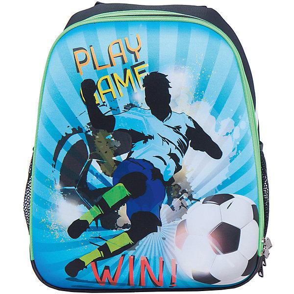 Школьный рюкзак ФутболистРюкзаки<br>Стильный каркасный рюкзак Футболист: эффектный дизайн и забота в Вашем ребенке. Благодаря твердому корпусу содержимое рюкзака надежно защищено. Эргономичная спинка и широкие регулируемые лямки берегут позвоночник Вашего школьника, равномерно распределяя нагрузку. Для переноски рюкзака в руке предусмотрена удобная ручка. Внутри рюкзака 2 вместительных отделения, а также 2 боковых кармана. Плотное дно надежно защищает учебники и тетрадки от промокания, даже если поставить рюкзак в лужу!<br><br>Дополнительная информация:<br>- размеры: 38х31,5х17 см<br>- вес: 900 гр.<br>- материал: нейлон, полиэстер, передняя и боковые части - вспененный формованный микропористый полимер<br>- принт устойчив к выгоранию<br>- застежка-молния с легким ходом<br><br>Каркасный рюкзак Футболист  можно купить в нашем интернет-магазине<br>Ширина мм: 170; Глубина мм: 315; Высота мм: 380; Вес г: 750; Возраст от месяцев: 72; Возраст до месяцев: 144; Пол: Мужской; Возраст: Детский; SKU: 4616120;