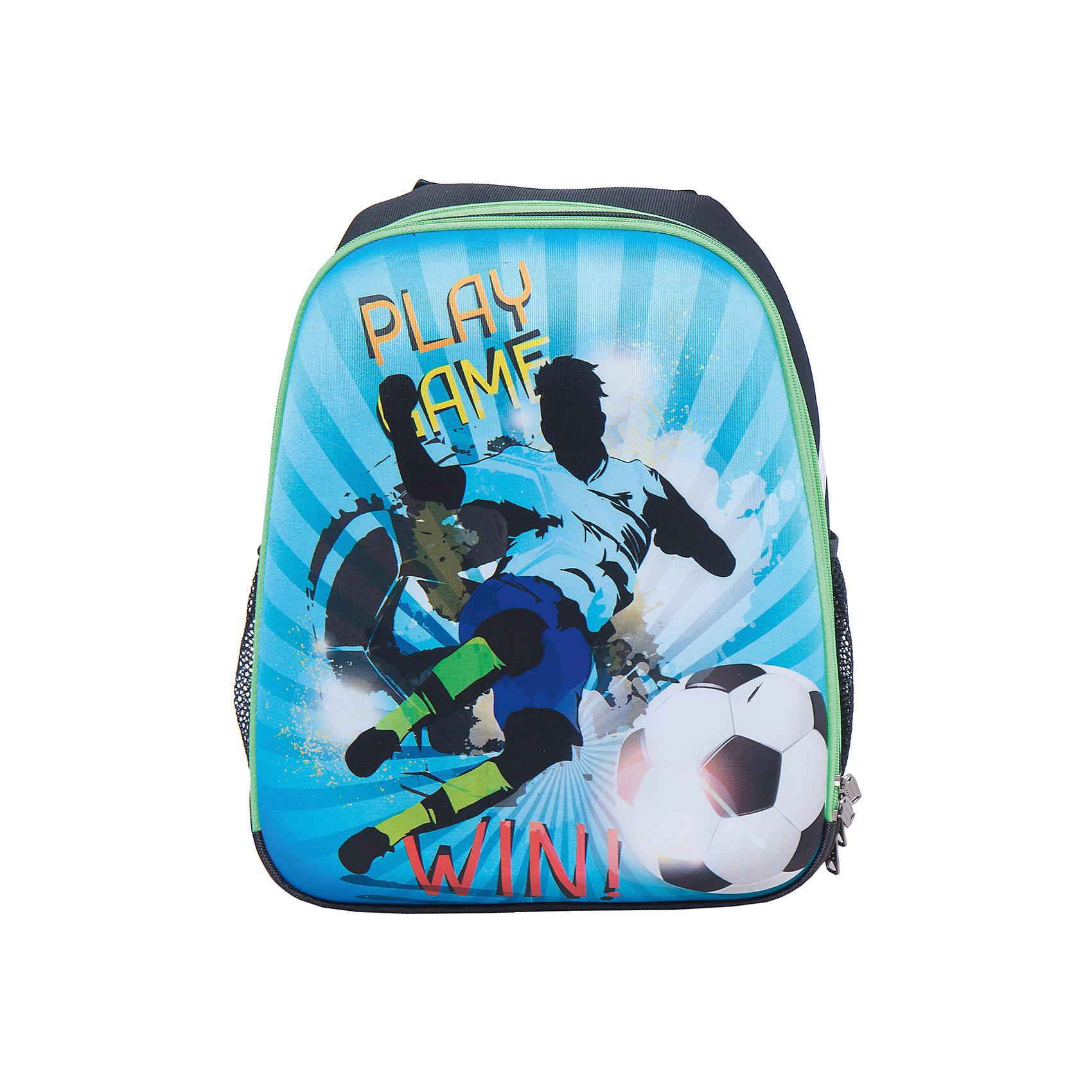 Школьный рюкзак ФутболистСтильный каркасный рюкзак Футболист: эффектный дизайн и забота в Вашем ребенке. Благодаря твердому корпусу содержимое рюкзака надежно защищено. Эргономичная спинка и широкие регулируемые лямки берегут позвоночник Вашего школьника, равномерно распределяя нагрузку. Для переноски рюкзака в руке предусмотрена удобная ручка. Внутри рюкзака 2 вместительных отделения, а также 2 боковых кармана. Плотное дно надежно защищает учебники и тетрадки от промокания, даже если поставить рюкзак в лужу!<br><br>Дополнительная информация:<br>- размеры: 38х31,5х17 см<br>- вес: 900 гр.<br>- материал: нейлон, полиэстер, передняя и боковые части - вспененный формованный микропористый полимер<br>- принт устойчив к выгоранию<br>- застежка-молния с легким ходом<br><br>Каркасный рюкзак Футболист  можно купить в нашем интернет-магазине<br><br>Ширина мм: 170<br>Глубина мм: 315<br>Высота мм: 380<br>Вес г: 750<br>Возраст от месяцев: 72<br>Возраст до месяцев: 144<br>Пол: Мужской<br>Возраст: Детский<br>SKU: 4616120