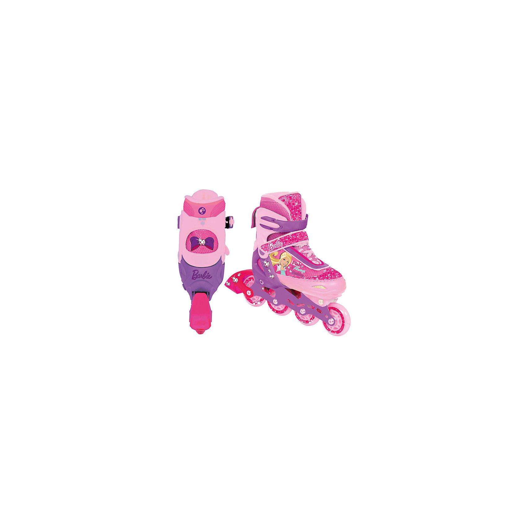 - Роликовые коньки, раздвижные, Barbie