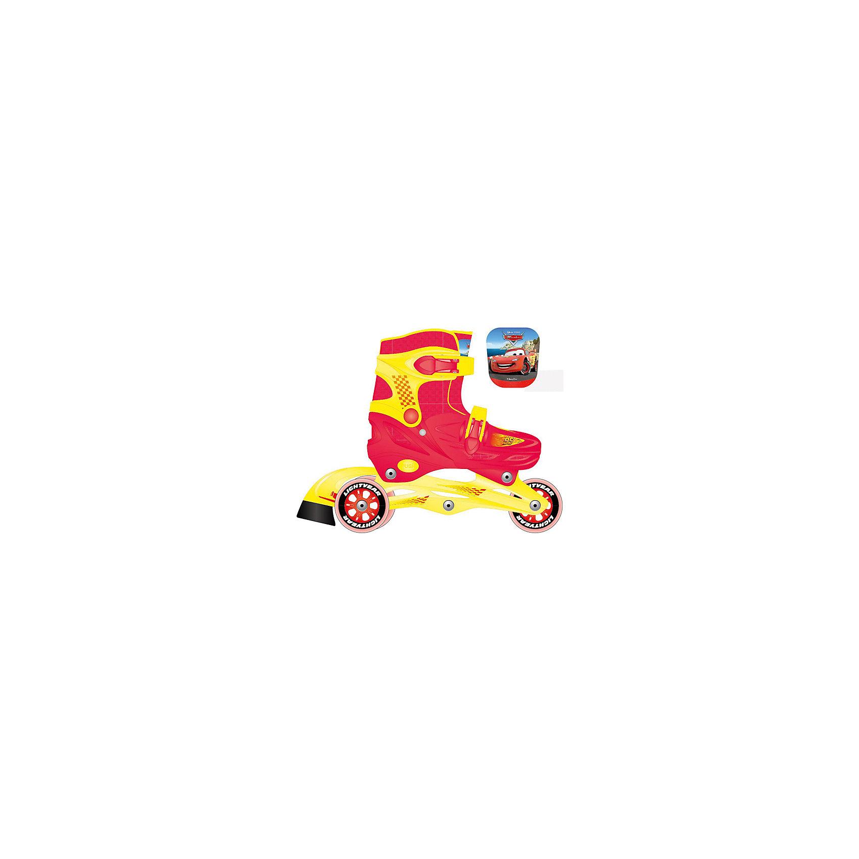 Роликовые коньки, раздвижные, ТачкиРолики<br>Характеристики товара:<br><br>• материал: полимер<br>• цвет: красный, желтый<br>• колеса: 64х24 мм<br>• удобный тормоз сзади<br>• жесткий ботинок обеспечивает надежную фиксацию стопы<br>• раздвижные - хватит на несколько сезонов<br>• колеса можно расположить как в ряд, так и два - сзади<br>• надежные материалы<br>• декорированы принтом<br>• продуманная конструкция<br>• яркий цвет<br><br>Подарить ребенку такие ролики - значит, помочь его развитию! Они способствуют скорейшему развитию способности ориентироваться в пространстве, развивают физические способности, мышление и ловкость. Помимо этого, кататься на них - очень увлекательное занятие!<br><br>Эти ролики разработаны специально для детей. Они раздвижные, поэтому размер легко меняется, что позволяет не покупать новые ролики на каждый сезон. Жесткий ботинок помогает защитить голеностоп. Данная модель выполнена в ярком дизайне, отличается продуманной конструкцией и деталями, которые обеспечивают безопасность ребенка. Отличный подарок для активного малыша!<br><br>Роликовые коньки, раздвижные, Тачки, от бренда Next можно купить в нашем интернет-магазине.<br><br>Ширина мм: 650<br>Глубина мм: 330<br>Высота мм: 440<br>Вес г: 2120<br>Цвет: белый<br>Возраст от месяцев: 72<br>Возраст до месяцев: 108<br>Пол: Мужской<br>Возраст: Детский<br>Размер: 30-33<br>SKU: 4616459