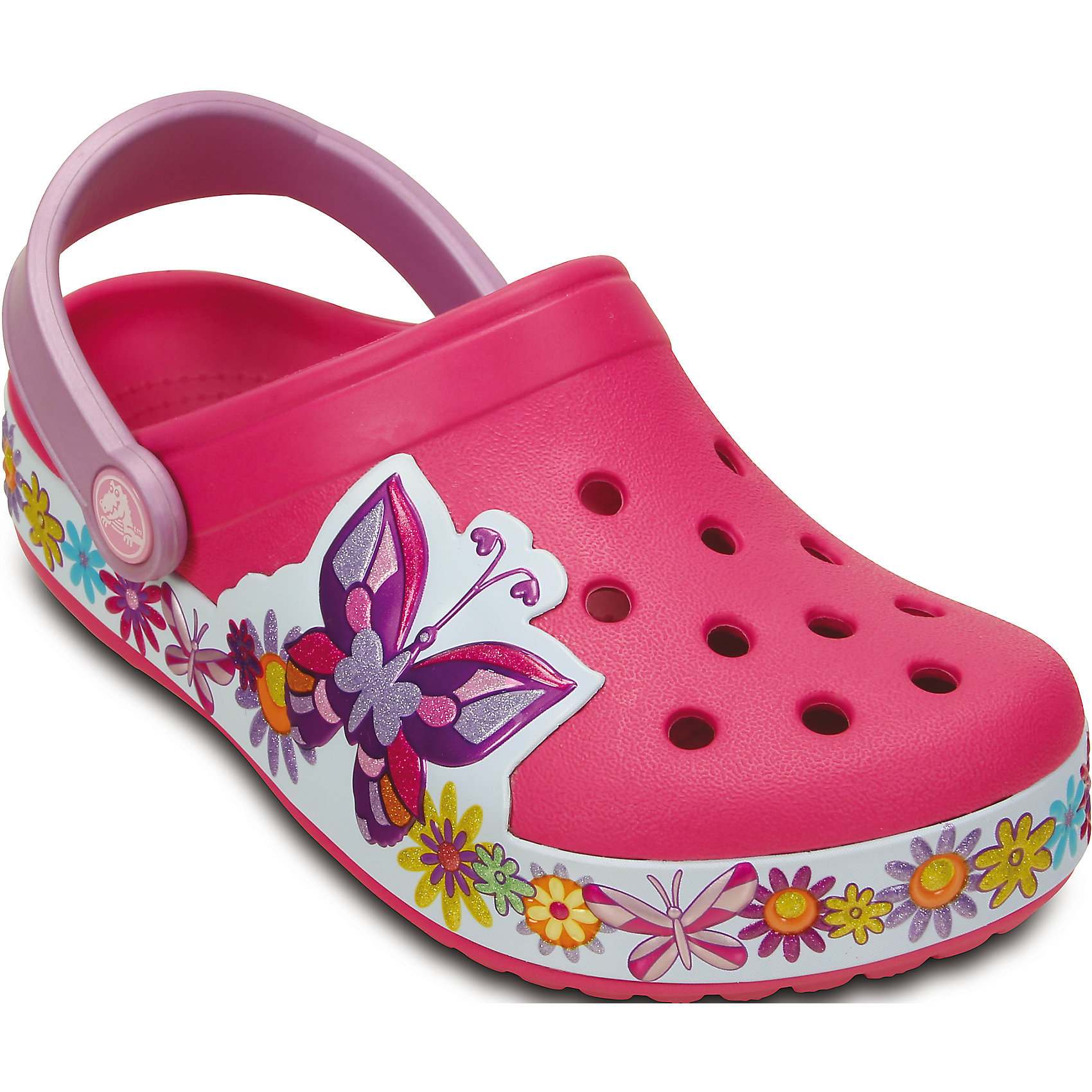 crocs Сабо Kids' Crocband Butterfly Clog для девочки Crocs summer women stretch slim pencil pants full length sexy ripped hole skinny high waist trousers plus size pantalon femme