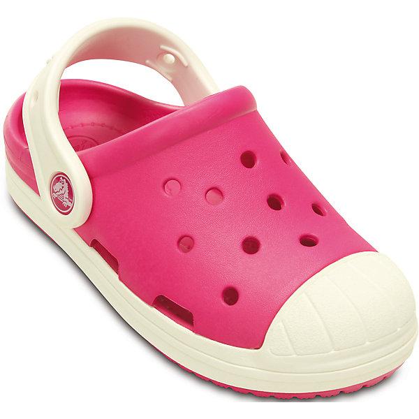 Сабо Kids' Crocs Bump It Clog Crocs, розовыйПляжная обувь<br>Характеристики товара:<br><br>• цвет: розовый<br>• материал: 100% полимер Croslite™<br>• литая модель<br>• вентиляционные отверстия<br>• бактериостатичный материал<br>• пяточный ремешок фиксирует стопу<br>• толстая устойчивая подошва<br>• страна бренда: США<br>• страна изготовитель: Китай<br><br>Сабо Kids' Crocs обеспечивают детям необходимый комфорт, а анатомическая стелька с массажными линиями для стимуляции кровообращения позволяет ножкам дольше не уставать. <br><br>Сабо легко надеваются и снимаются, отлично сидят на ноге. <br><br>Материал, из которого они сделаны, не дает размножаться бактериям, поэтому такая обувь препятствует образованию неприятного запаха и появлению болезней стоп. <br><br>Изделие производится из качественных и проверенных материалов, которые безопасны для детей.<br><br>Сабо Kids' Crocs Bump It Clog от торговой марки Crocs можно купить в нашем интернет-магазине.<br><br>Ширина мм: 225<br>Глубина мм: 139<br>Высота мм: 112<br>Вес г: 290<br>Цвет: розовый<br>Возраст от месяцев: 36<br>Возраст до месяцев: 48<br>Пол: Женский<br>Возраст: Детский<br>Размер: 27,30,25,26,31,24,23,29,28,31/32,33/34,34/35<br>SKU: 4616507