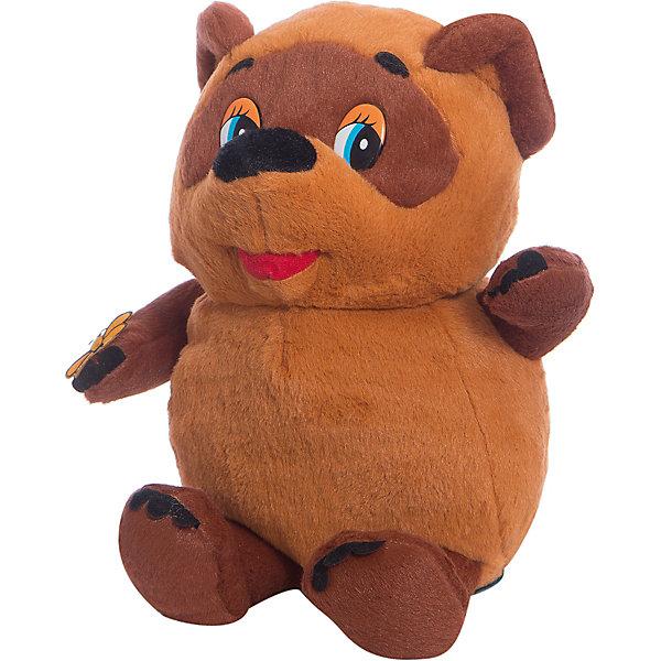 Мягкая игрушка Винни-Пух, 25 см, со звуком, МУЛЬТИ-ПУЛЬТИМузыкальные мягкие игрушки<br>Любимец детей и взрослых, очаровательный мишка Винни, станет прекрасным подарком. Милый медвежонок  очень мягкий и приятный на ощупь, к тому же знает много фраз и песенку, с ним не соскучишься! <br>Игрушка выполнена из высококачественных экологичных материалов безопасных для детей. <br><br>Дополнительная информация:<br><br>- Материал: пластик, текстиль, синтепон. <br>- Размер куклы: 25 см.<br>- Звуковые эффекты: фразы, песенка.<br>- Элемент питания: батарейки (в комплекте).<br><br>Мягкую игрушку Винни-Пух, 25 см, со звуком, МУЛЬТИ-ПУЛЬТИ, можно купить в нашем магазине.<br><br>Ширина мм: 520<br>Глубина мм: 400<br>Высота мм: 520<br>Вес г: 300<br>Возраст от месяцев: 36<br>Возраст до месяцев: 96<br>Пол: Унисекс<br>Возраст: Детский<br>SKU: 4616812