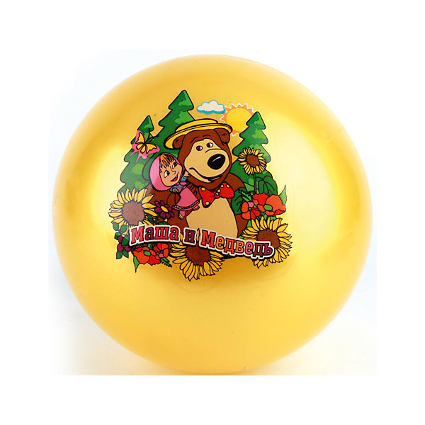 Мяч, 23 см, Маша и Медведь, Играем вместеМаша и Медведь<br>Мяч с изображением любимых героев - прекрасный подарок для любого ребенка! Игры с мячом  стимулируют детей к физической активности, развивают моторику, координацию, тренируют различные группы мышц. Игрушка выполнена из высококачественных материалов, в производстве которых использованы только нетоксичные, безопасные для детей красители. <br><br>Дополнительная информация:<br><br>- Материал: ПВХ.<br>- Размер d - 23 см.<br>- В ассортименте. <br>ВНИМАНИЕ! Данный артикул представлен в разных вариантах исполнения. К сожалению, заранее выбрать определенный вариант невозможно. При заказе нескольких мячей возможно получение одинаковых.<br><br>Мяч, 23 см, Маша и Медведь, Играем вместе, в ассортименте, можно купить в нашем магазине.<br>Ширина мм: 450; Глубина мм: 260; Высота мм: 300; Вес г: 80; Возраст от месяцев: 36; Возраст до месяцев: 96; Пол: Унисекс; Возраст: Детский; SKU: 4616813;