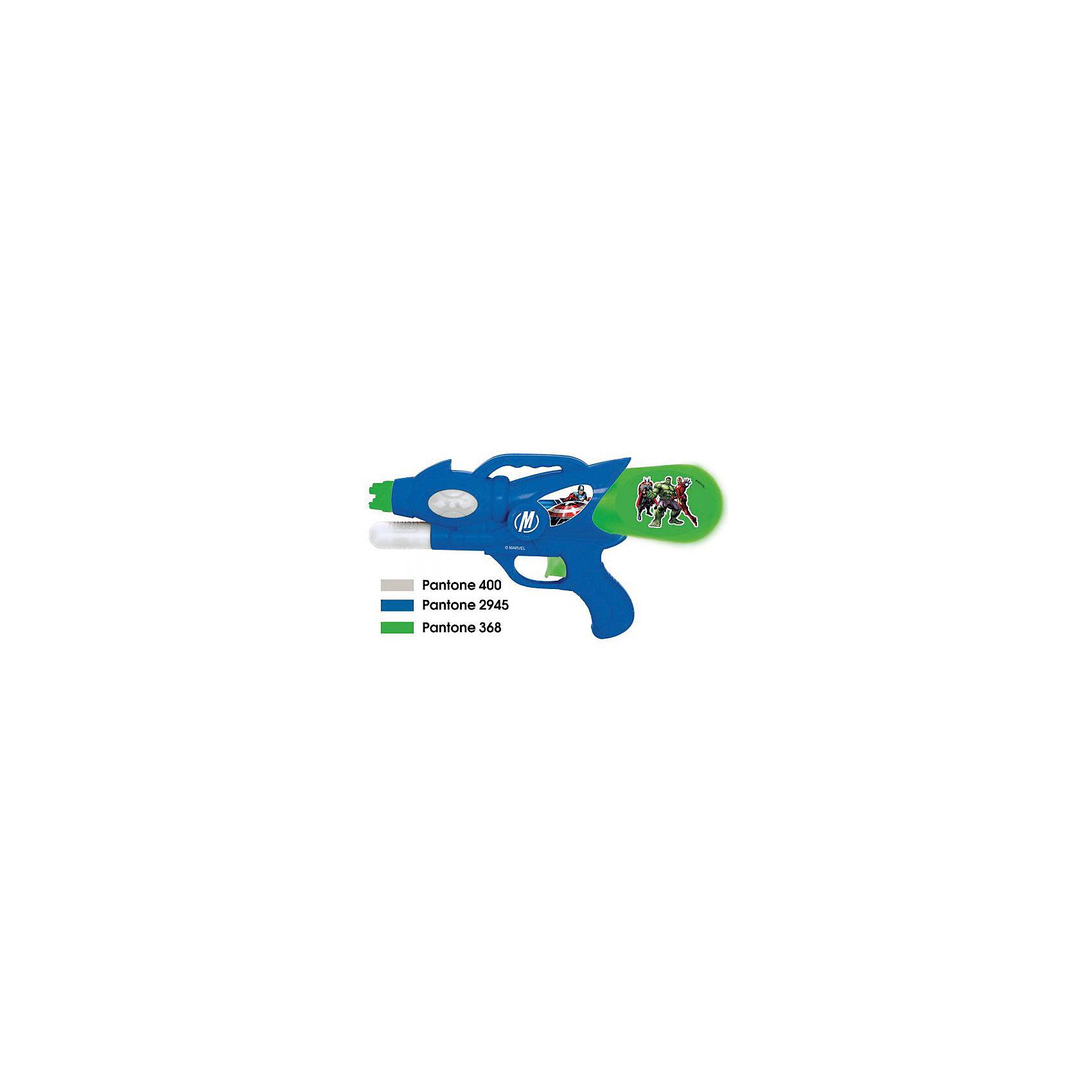 Водный пистолет , 31 см, МстителиВодный пистолет - идеальный вариант для подвижных игр жарким летом! Мальчишки обожают бегать и устраивать водные перестрелки. Игрушка оформлена изображением героев мультсериала Мстители. Корпус пистолета выполнен из прочного экологичного пластика безопасного для детей. <br><br>Дополнительная информация:<br><br>- Материал: пластик.<br>- Размер: 31 см.<br>- Объем: 115 мл.<br>- Цвет: синий, зеленый.<br><br>Водный пистолет , 31 см, Мстители (Avengers), можно купить в нашем магазине.<br><br>Ширина мм: 640<br>Глубина мм: 340<br>Высота мм: 530<br>Вес г: 240<br>Возраст от месяцев: 36<br>Возраст до месяцев: 120<br>Пол: Мужской<br>Возраст: Детский<br>SKU: 4616819