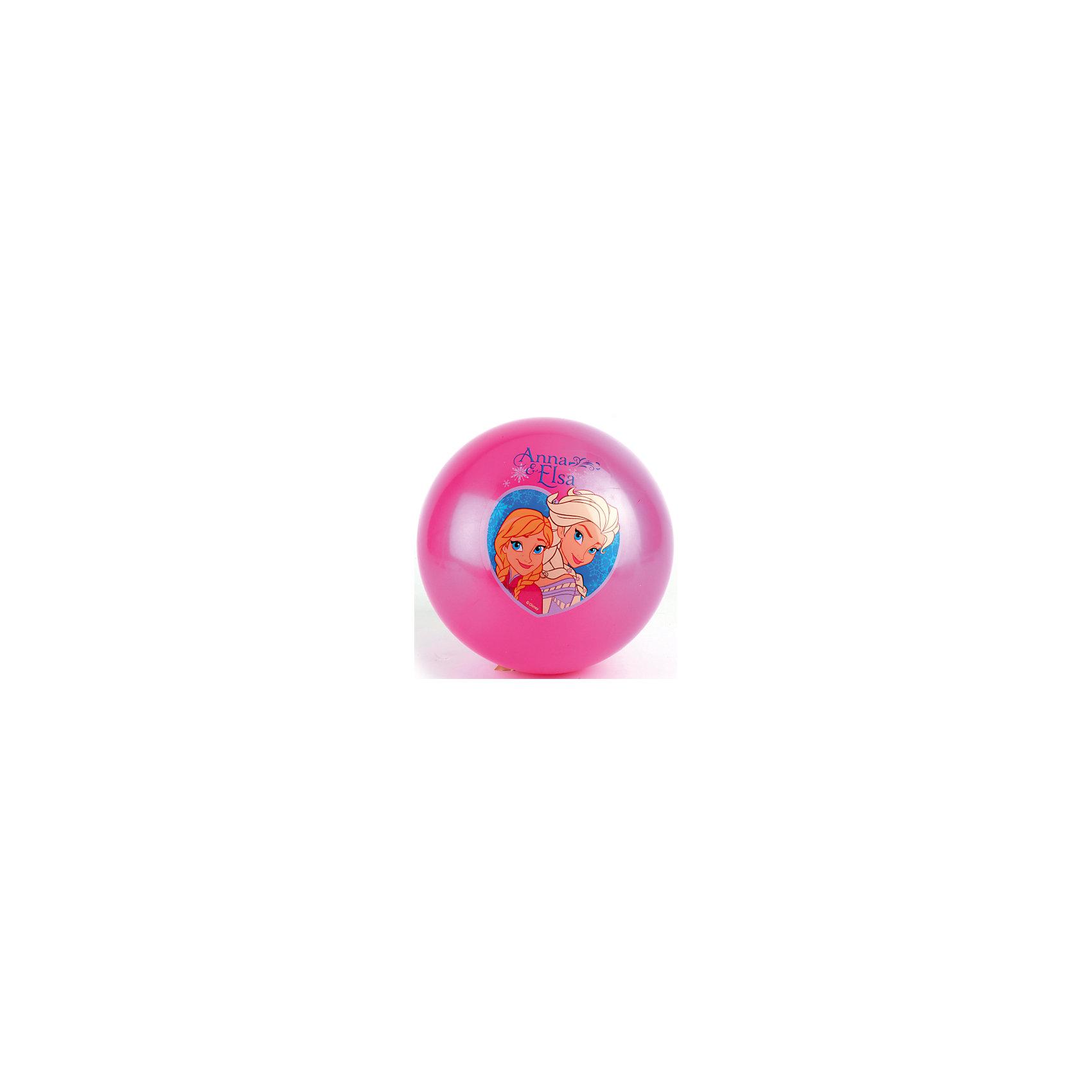 Мяч с наклейкой, 23 см, Холодное Сердце, Играем вместеПопулярные игрушки<br>Мяч с изображением любимых героинь мультфильма Frozen обязательно понравится девочкам. Игры с мячом  стимулируют детей к физической активности, развивают моторику, координацию, тренируют различные группы мышц. Игрушка выполнена из высококачественных материалов, в производстве которых использованы только нетоксичные, безопасные для детей красители. <br><br>Дополнительная информация:<br><br>- Материал: ПВХ.<br>- Размер d - 23 см.<br>- Оформлен изображениями Эльзы и Анны.<br><br>Мяч с наклейкой, 23 см, Холодное Сердце, Играем вместе, можно купить в нашем магазине.<br><br>Ширина мм: 450<br>Глубина мм: 260<br>Высота мм: 300<br>Вес г: 80<br>Возраст от месяцев: 36<br>Возраст до месяцев: 144<br>Пол: Женский<br>Возраст: Детский<br>SKU: 4616828
