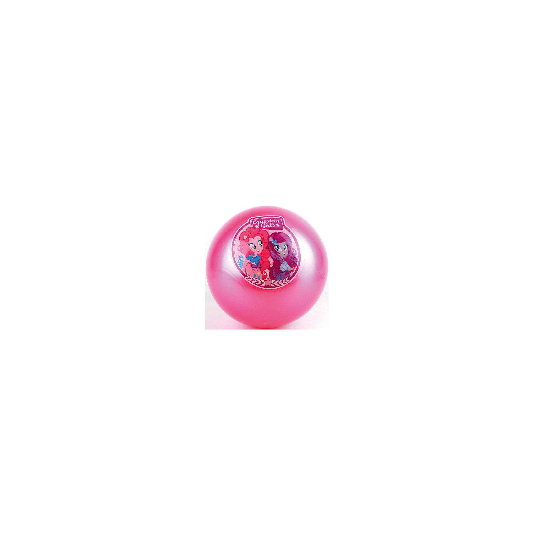 Мяч с наклейкой, 23 см, Эквестрия герлзЯркий мяч приведет в восторг всех поклонниц My Little Pony, (Май Литл Пони)! Игры с мячом  стимулируют детей к физической активности, развивают моторику, координацию, тренируют различные группы мышц. Игрушка выполнена из высококачественных материалов, в производстве которых использованы только нетоксичные, безопасные для детей красители. Мяч оформлен изображениями героинь мультсериала Equestria Girls (Девушки Эквестрии).<br><br>Дополнительная информация:<br><br>- Материал: ПВХ.<br>- Размер d - 23 см.<br>- Оформлен изображениями героинь мультсериала Equestria Girls (Девушки Эквестрии).<br><br>Мяч с наклейкой, 23 см, Эквестрия Герлз, Играем вместе, можно купить в нашем магазине.<br><br>Ширина мм: 450<br>Глубина мм: 260<br>Высота мм: 300<br>Вес г: 80<br>Возраст от месяцев: 36<br>Возраст до месяцев: 144<br>Пол: Женский<br>Возраст: Детский<br>SKU: 4616829