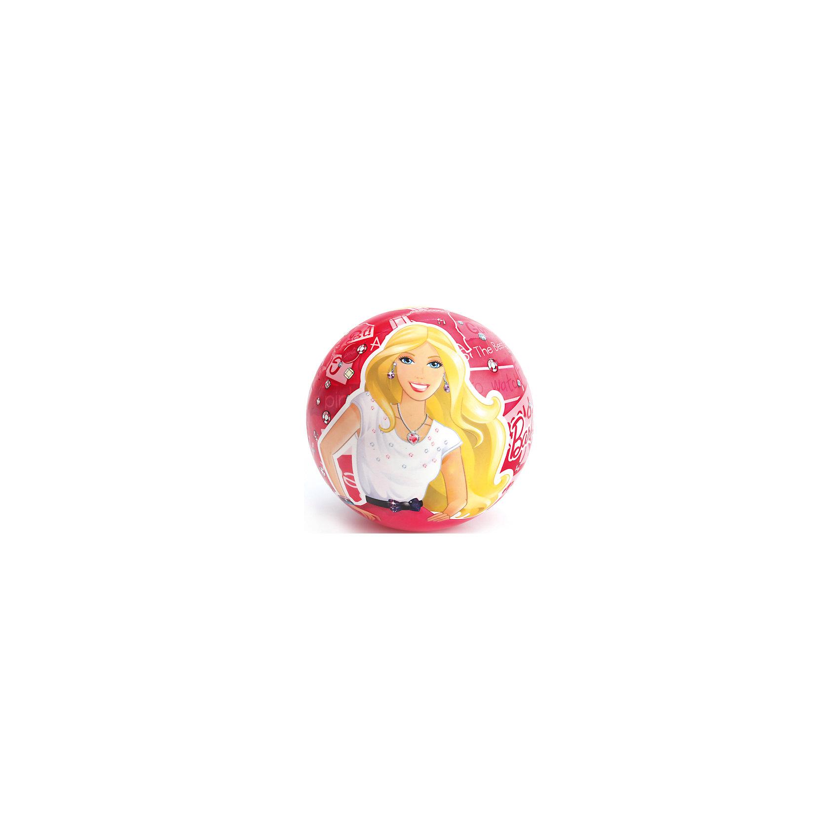 Мяч, 23 см, Barbie, Играем вместеBarbie<br>Мяч с изображением любимой куклы - прекрасный подарок для любой девочки! Игры с мячом  стимулируют детей к физической активности, развивают моторику, координацию, тренируют различные группы мышц. Игрушка выполнена из высококачественных материалов, в производстве которых использованы только нетоксичные, безопасные для детей красители. <br><br>Дополнительная информация:<br><br>- Материал: ПВХ.<br>- Размер d - 23 см.<br><br>Мяч, 23 см, Barbie (Барби), Играем вместе, можно купить в нашем магазине.<br><br>Ширина мм: 460<br>Глубина мм: 360<br>Высота мм: 280<br>Вес г: 110<br>Возраст от месяцев: 36<br>Возраст до месяцев: 144<br>Пол: Женский<br>Возраст: Детский<br>SKU: 4616839
